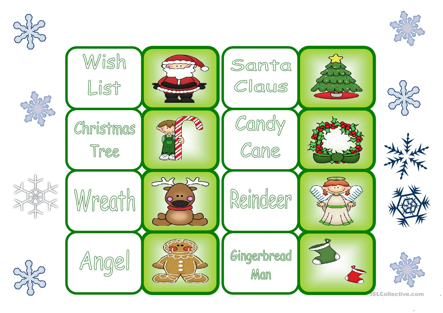 Christmas Dominoes Part 1 Worksheet
