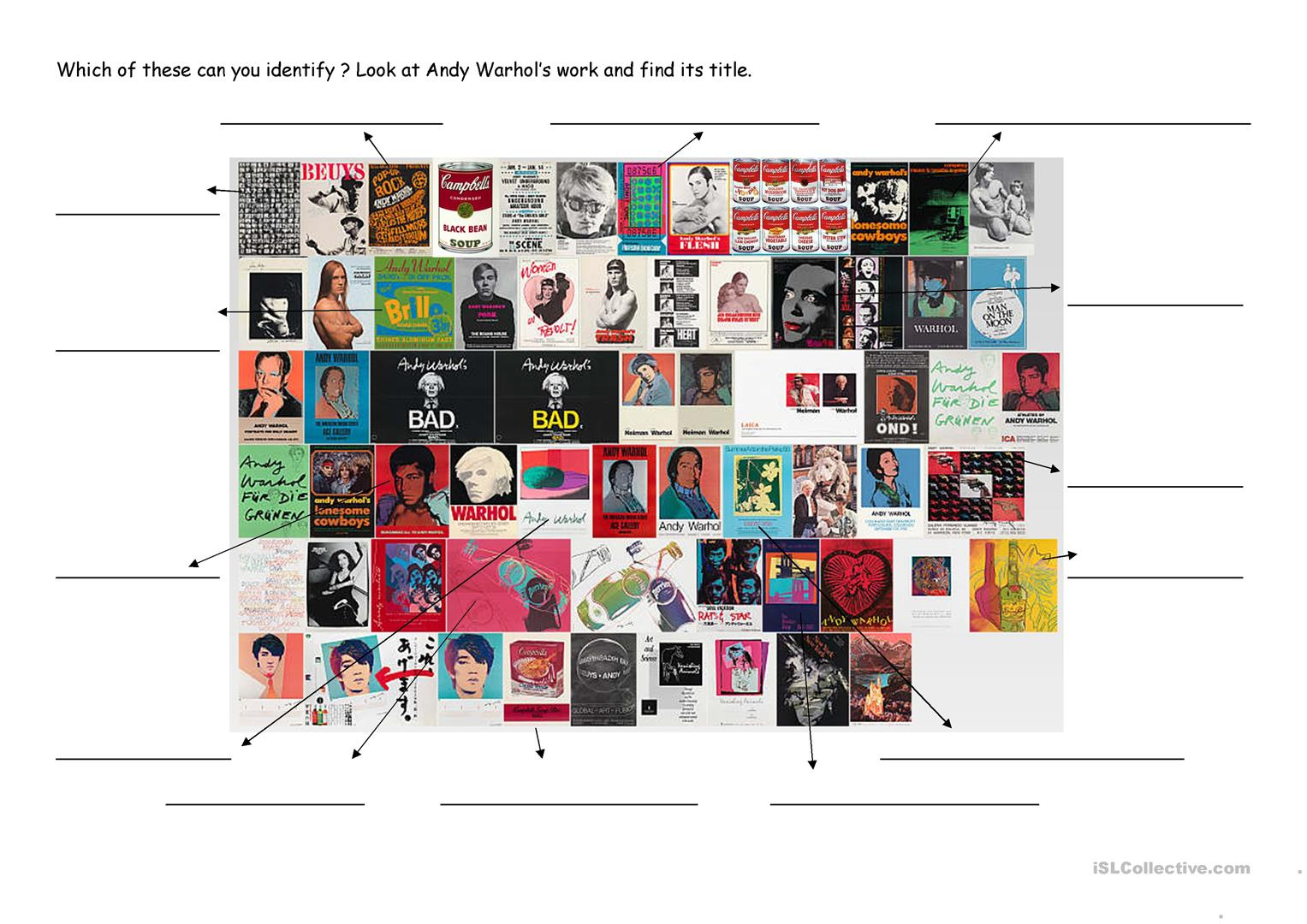 Tate Modern And Andy Warhol Worksheet