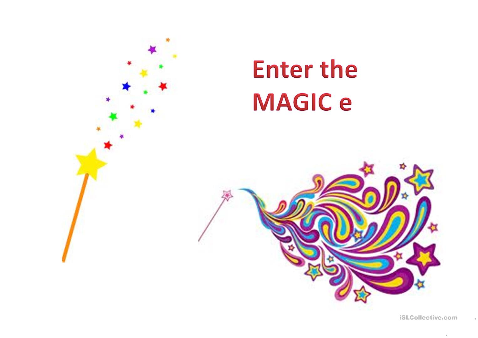 The Magic E Worksheet