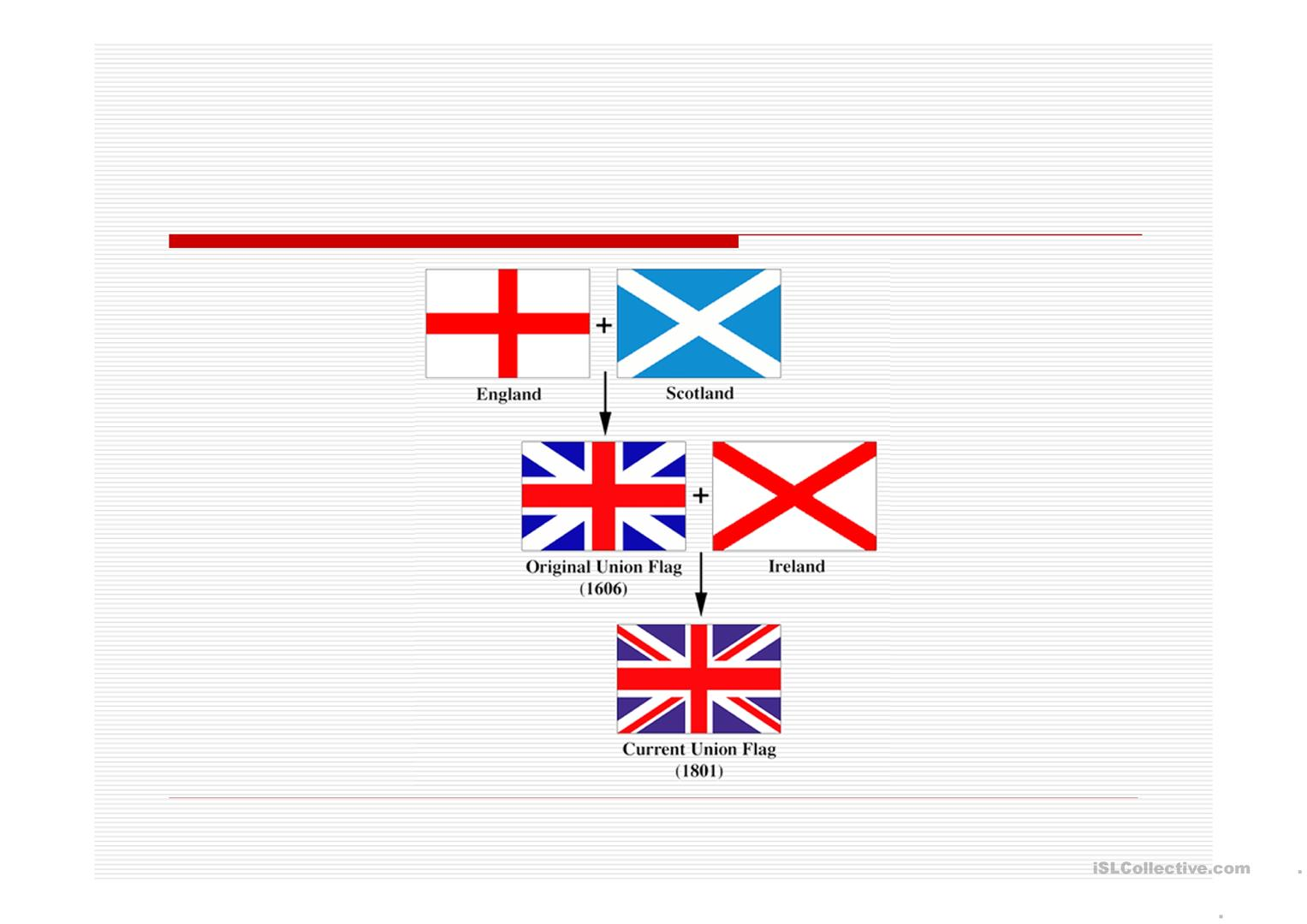United Kingdom Flag Worksheet