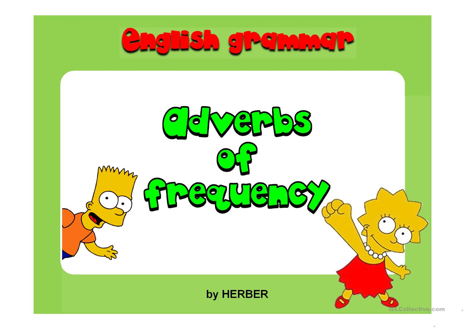 Adverbs Of Frequency Ppt Worksheet