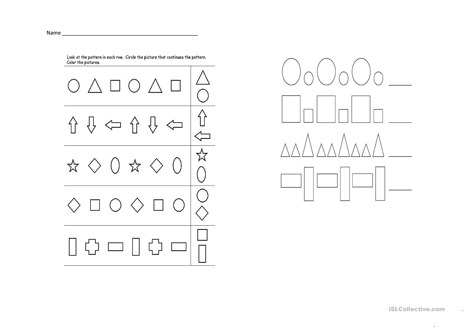 Pattern Of Shapes