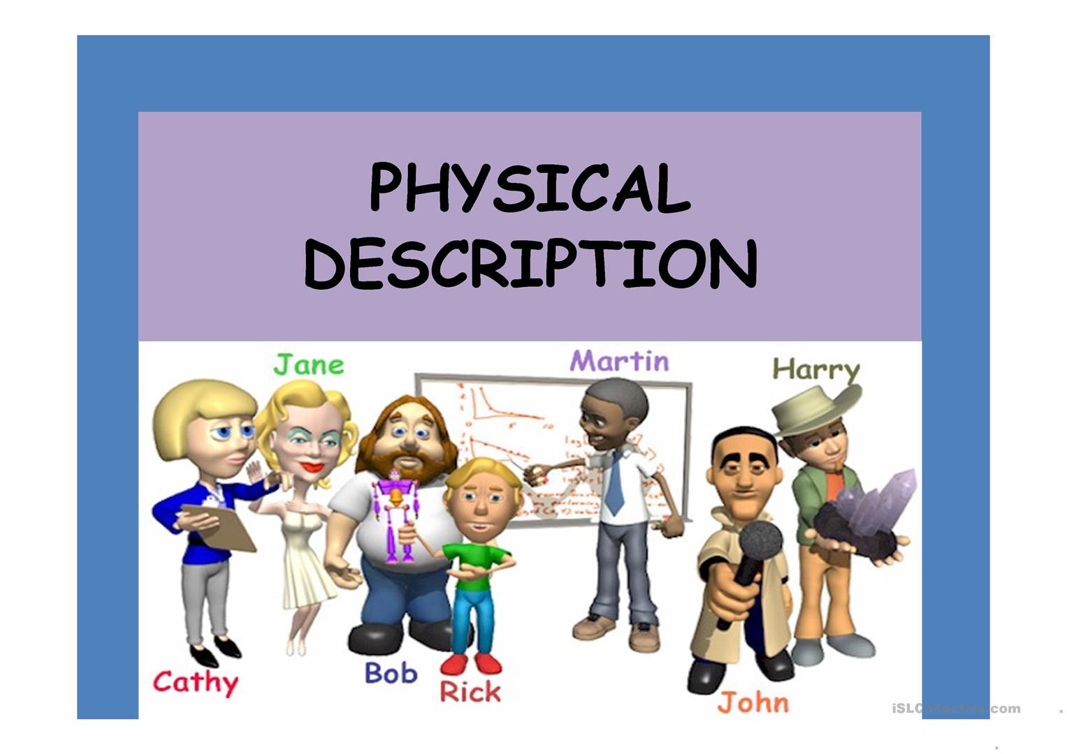 Physical Description Worksheet