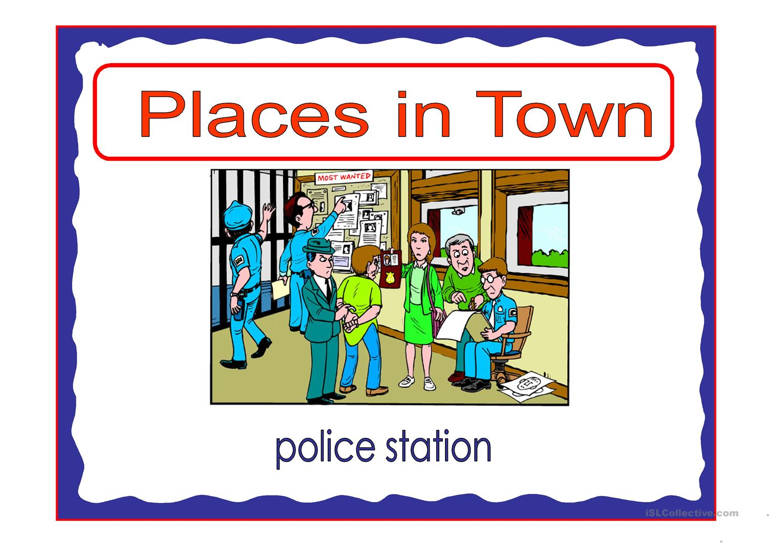 Places In Town 1 Worksheet
