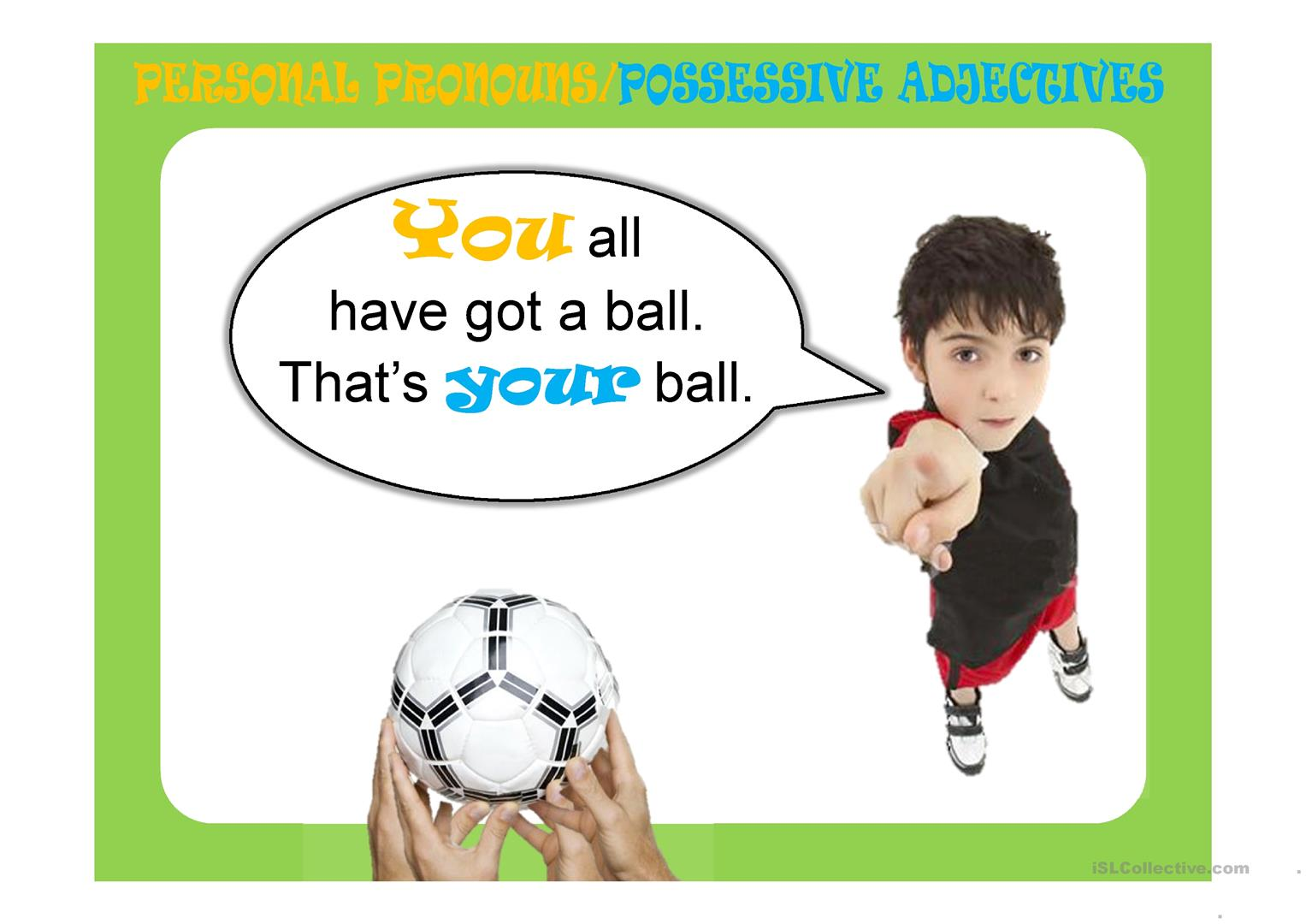 Possessive Adjectives Ppt Worksheet