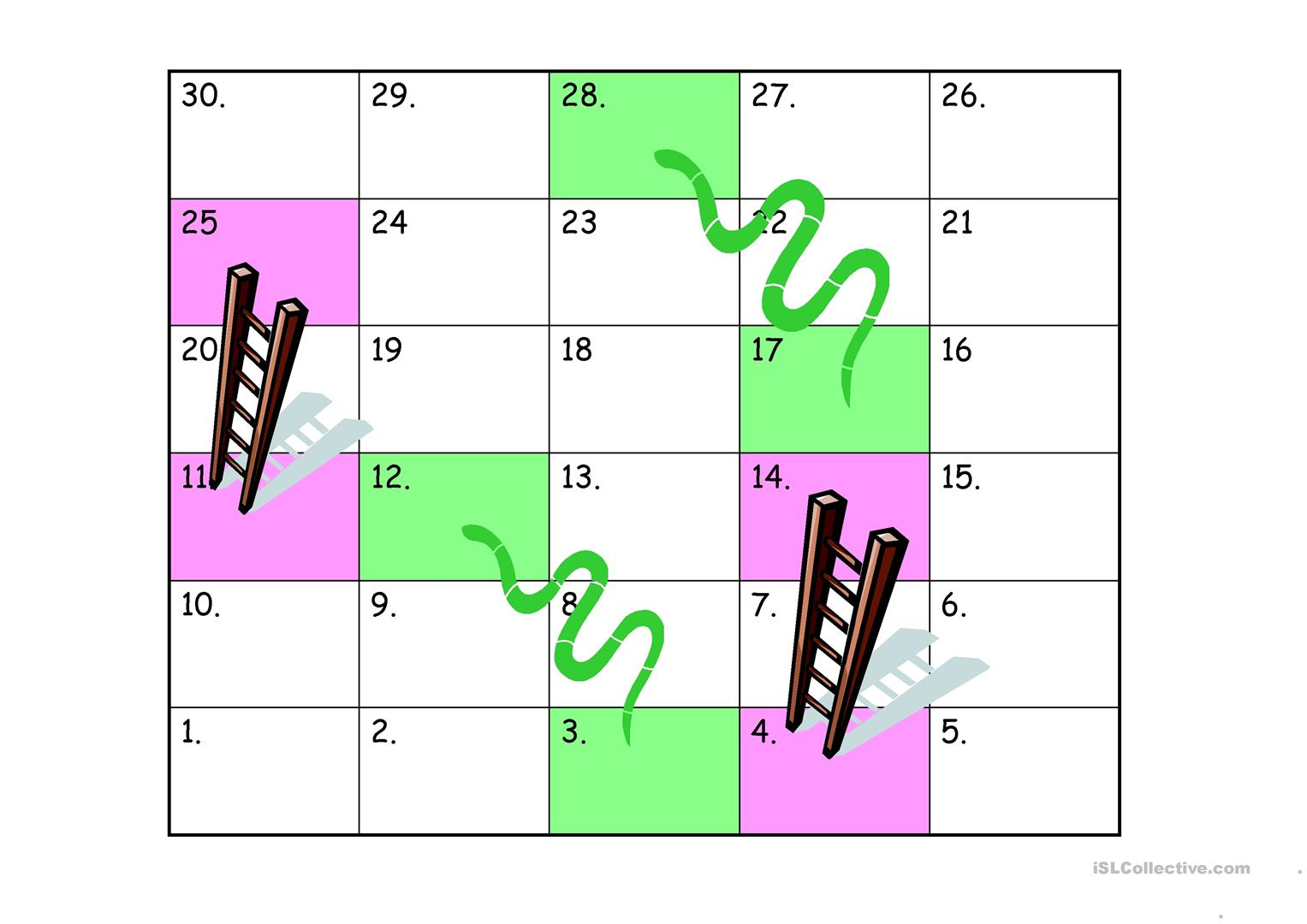 Snake And Ladder Template Worksheet