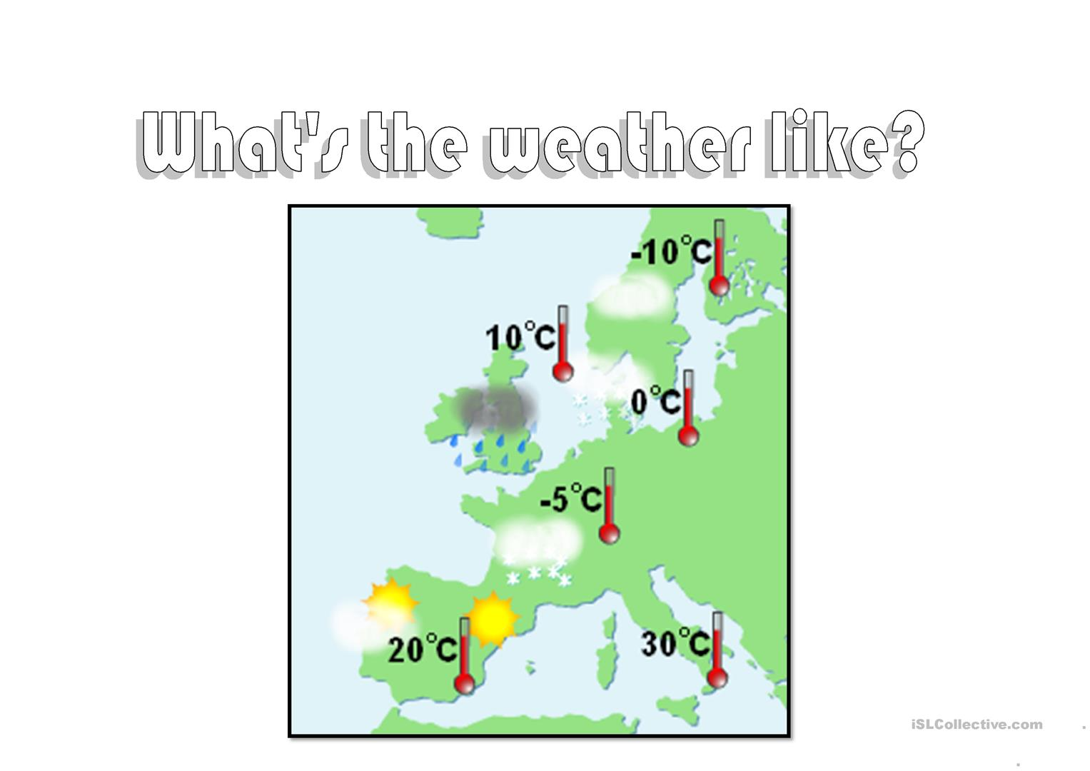Weather Map Worksheet
