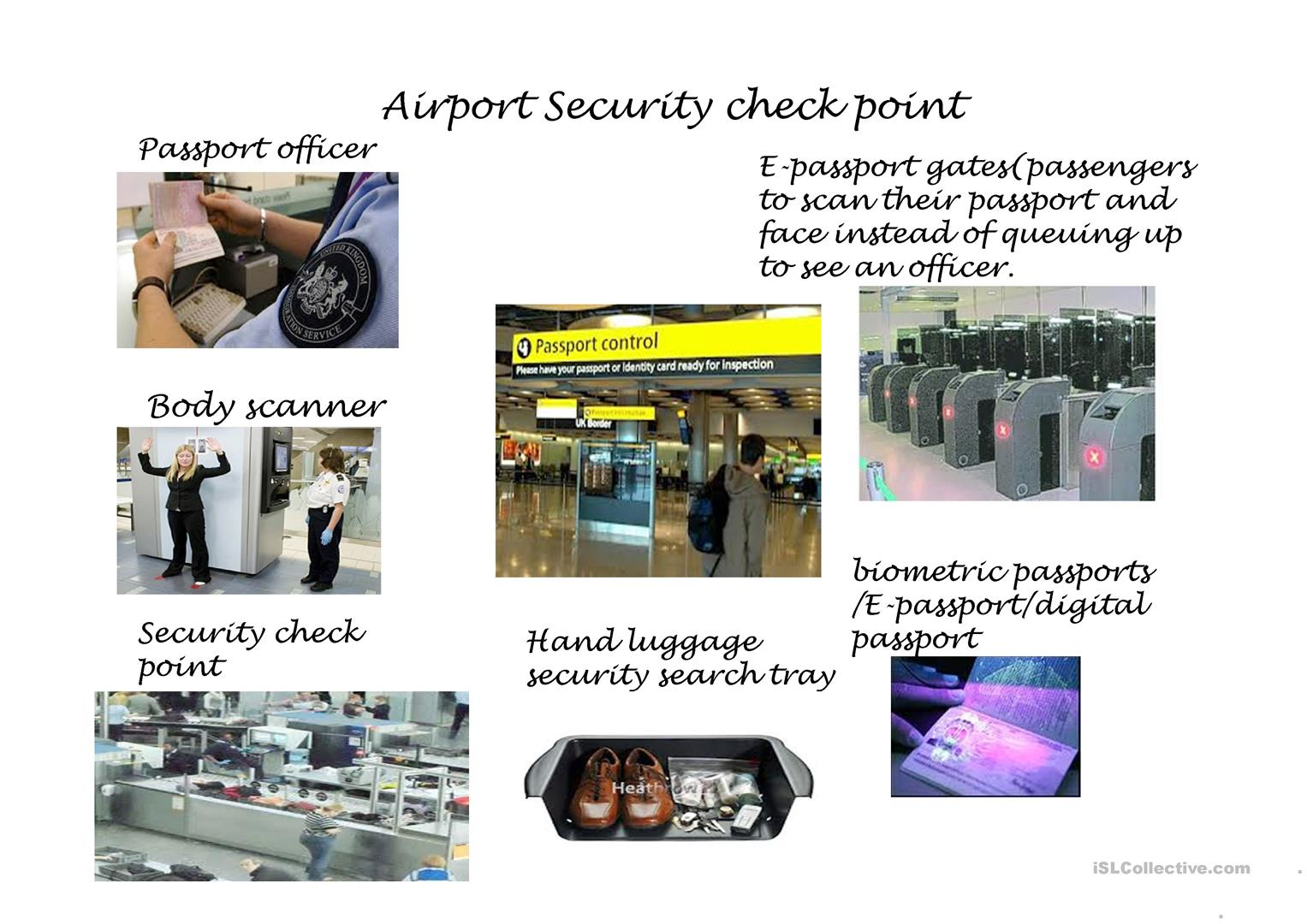 Airport Security Check Point Worksheet