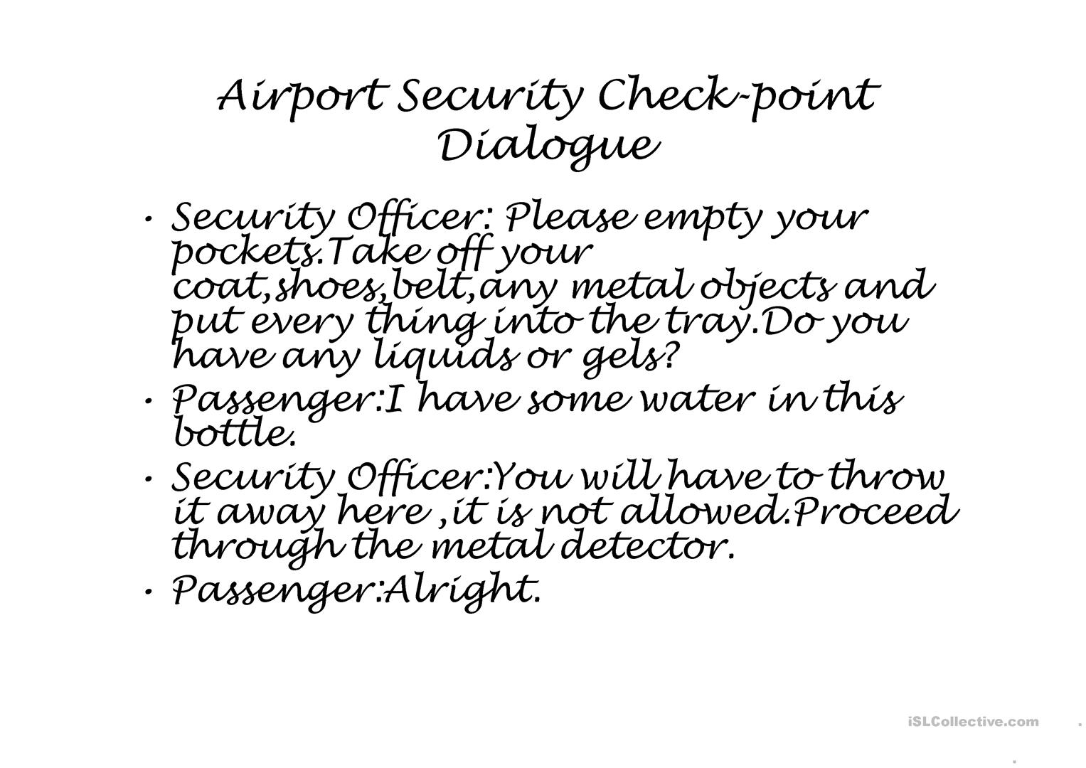 Airport Security Check Point