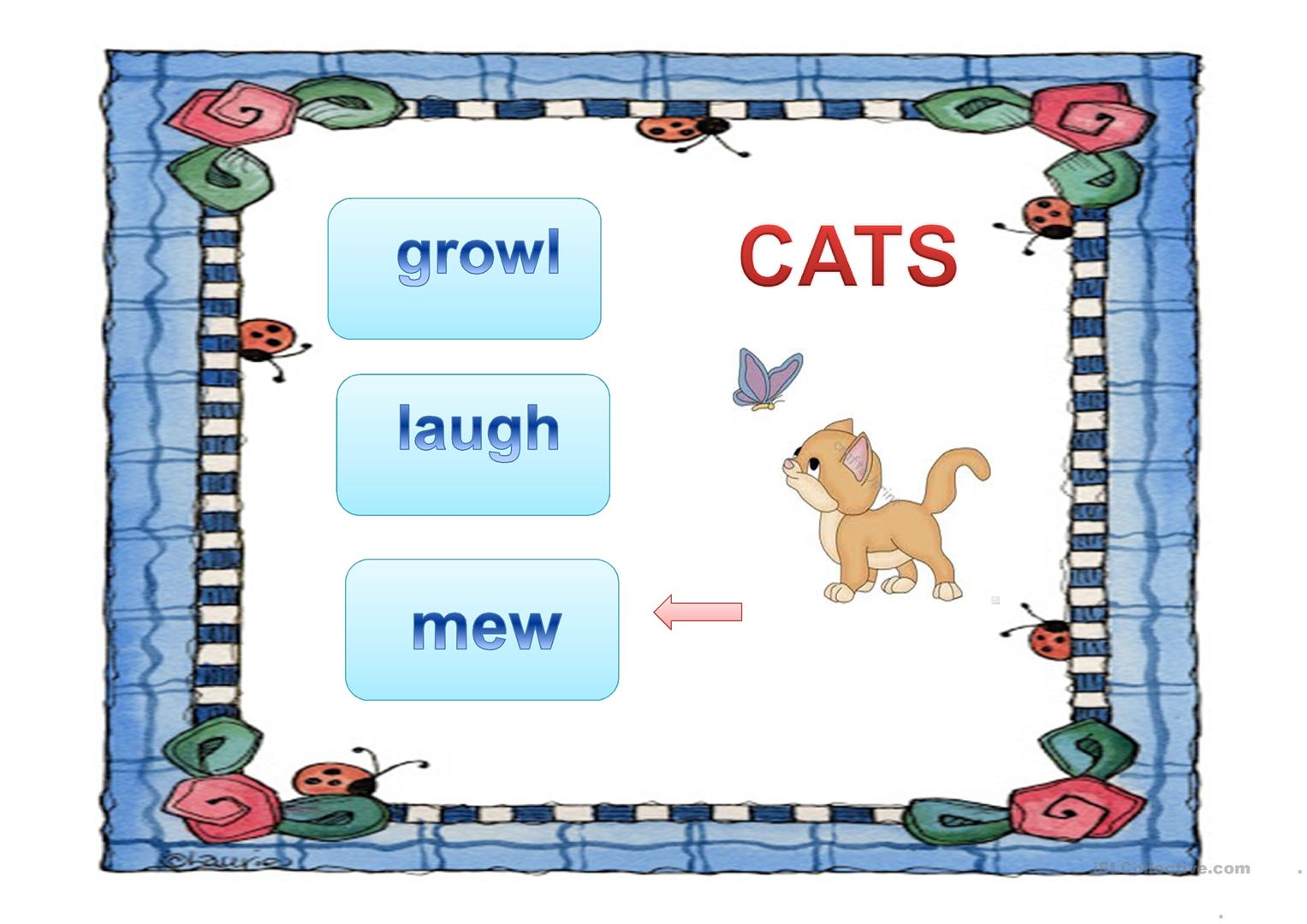 Guess Animal Sounds 1 Worksheet