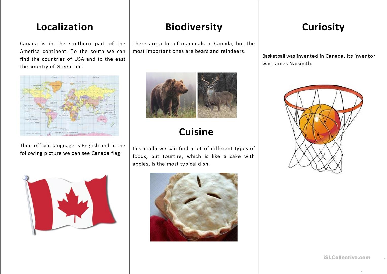 Let S Discover Canada Worksheet