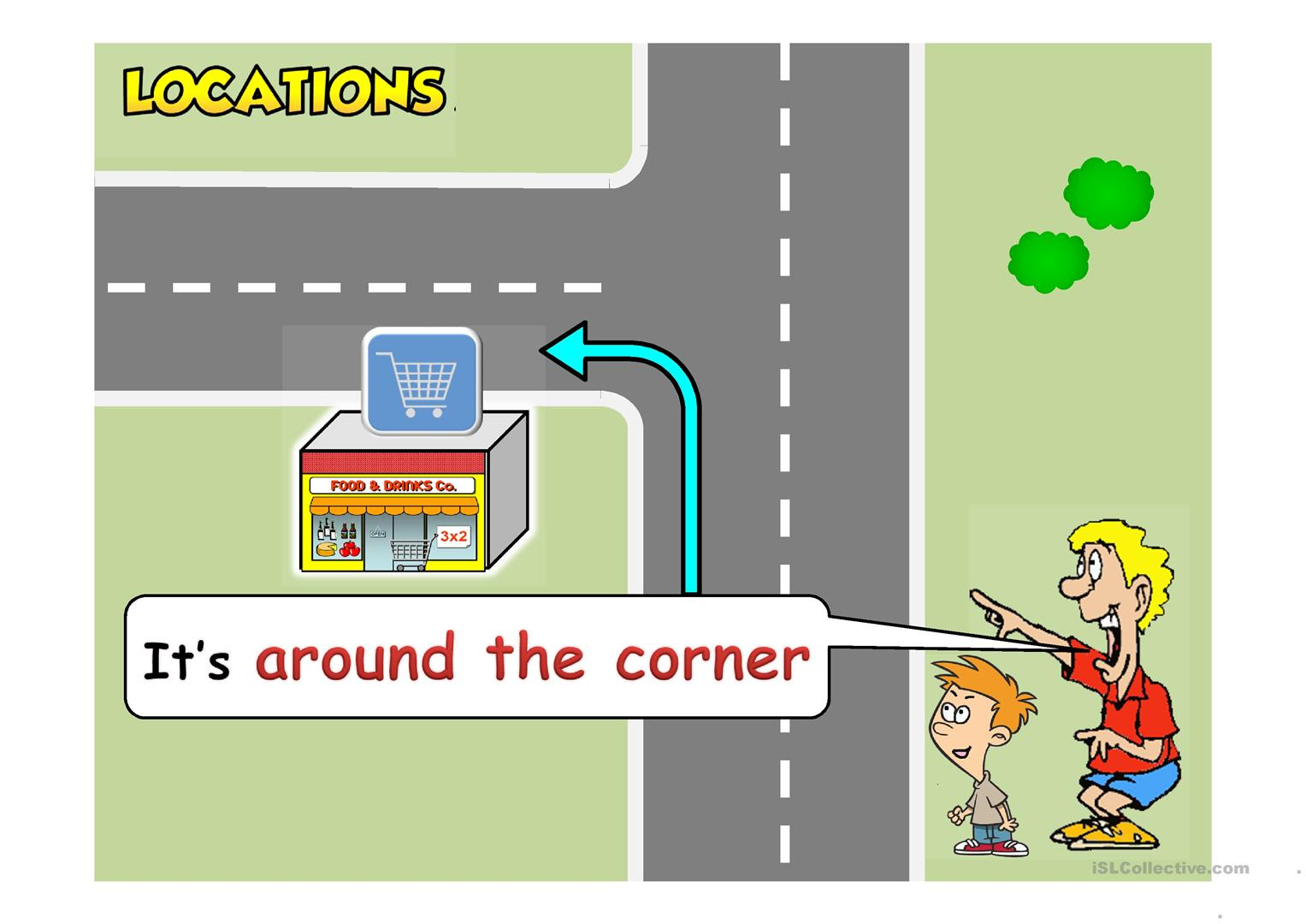 Locations Amp Directions Ppt Worksheet