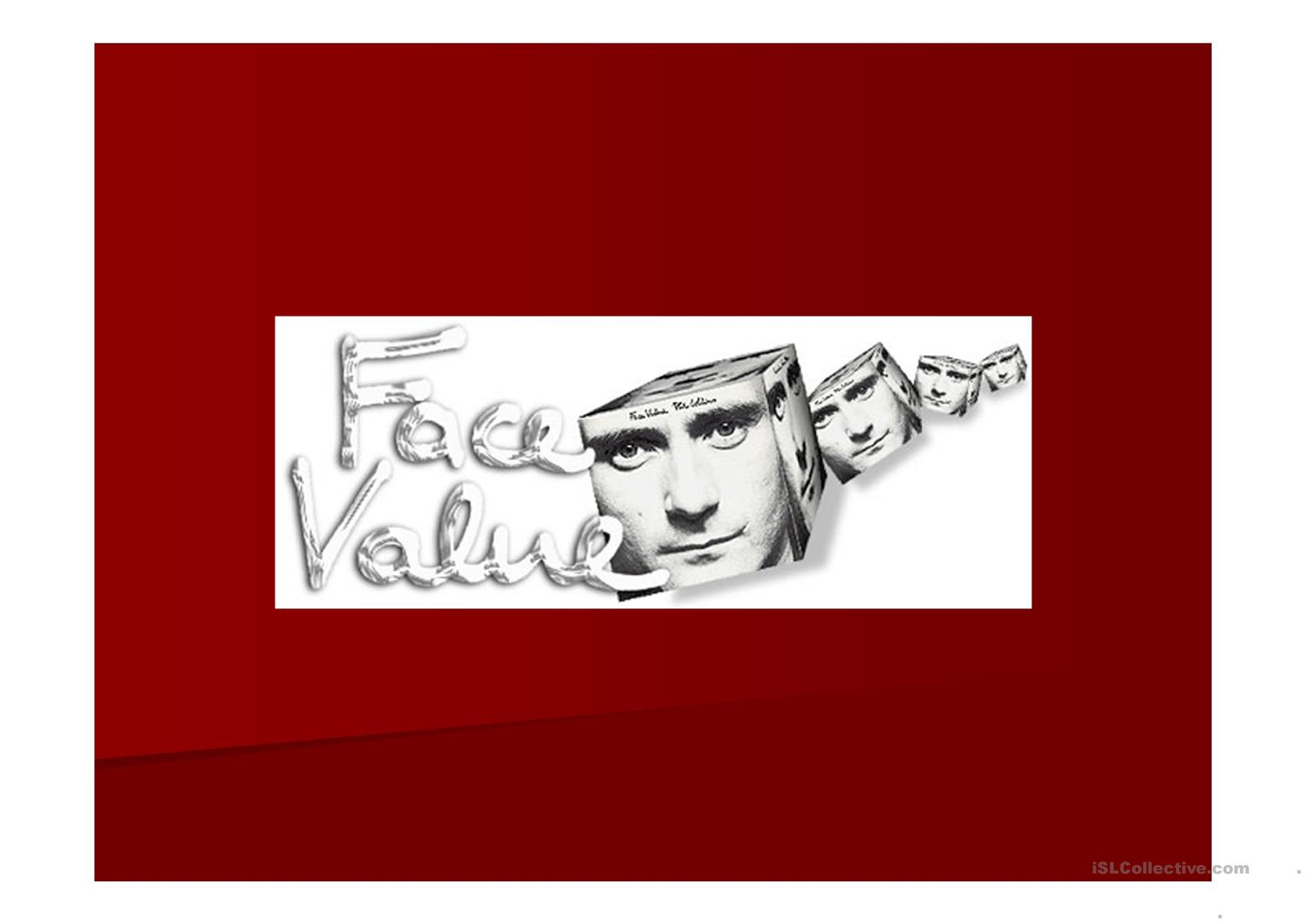 Ppt Discussion Face Value Beauty Worksheet