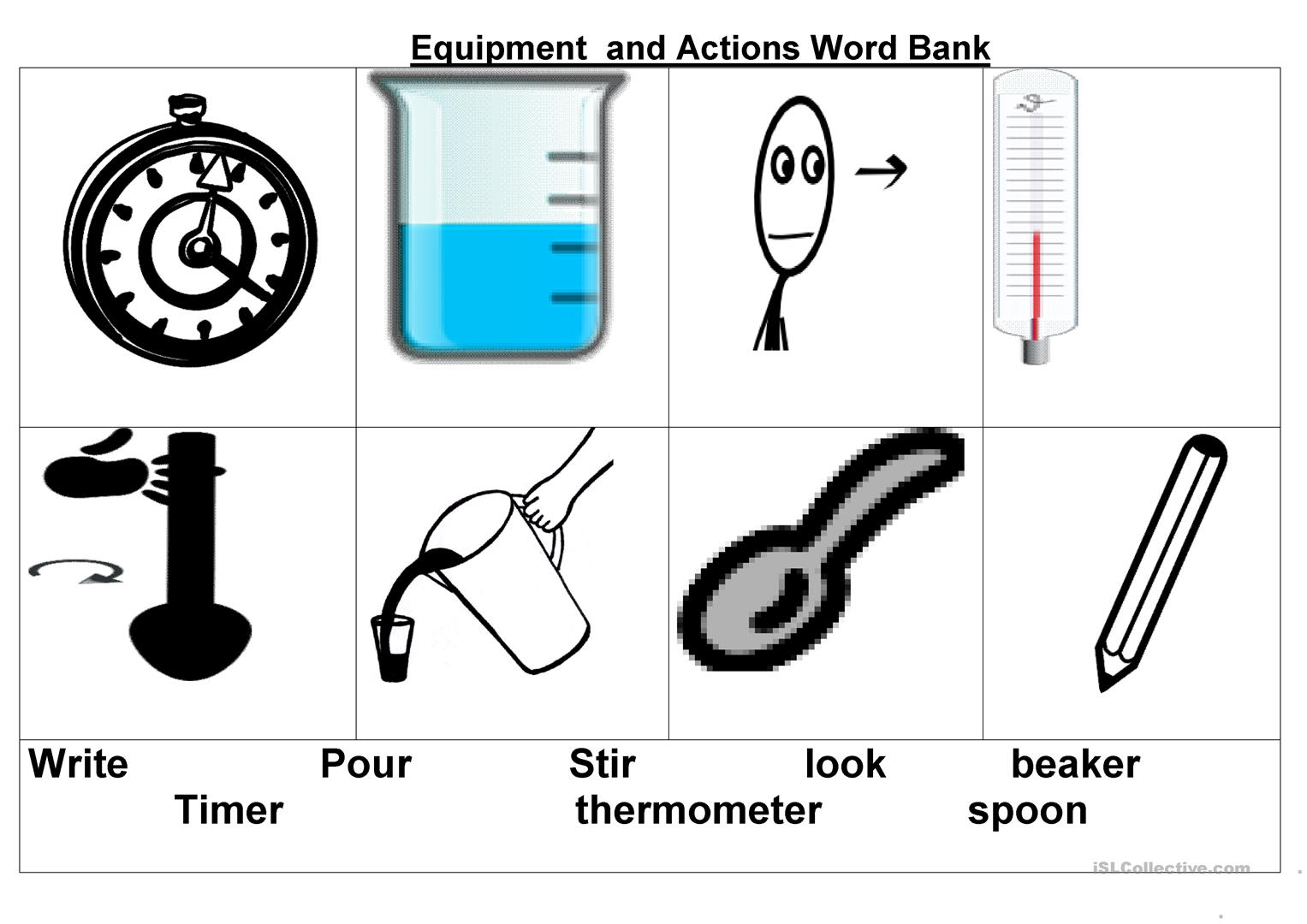 Science Equipment Vocab