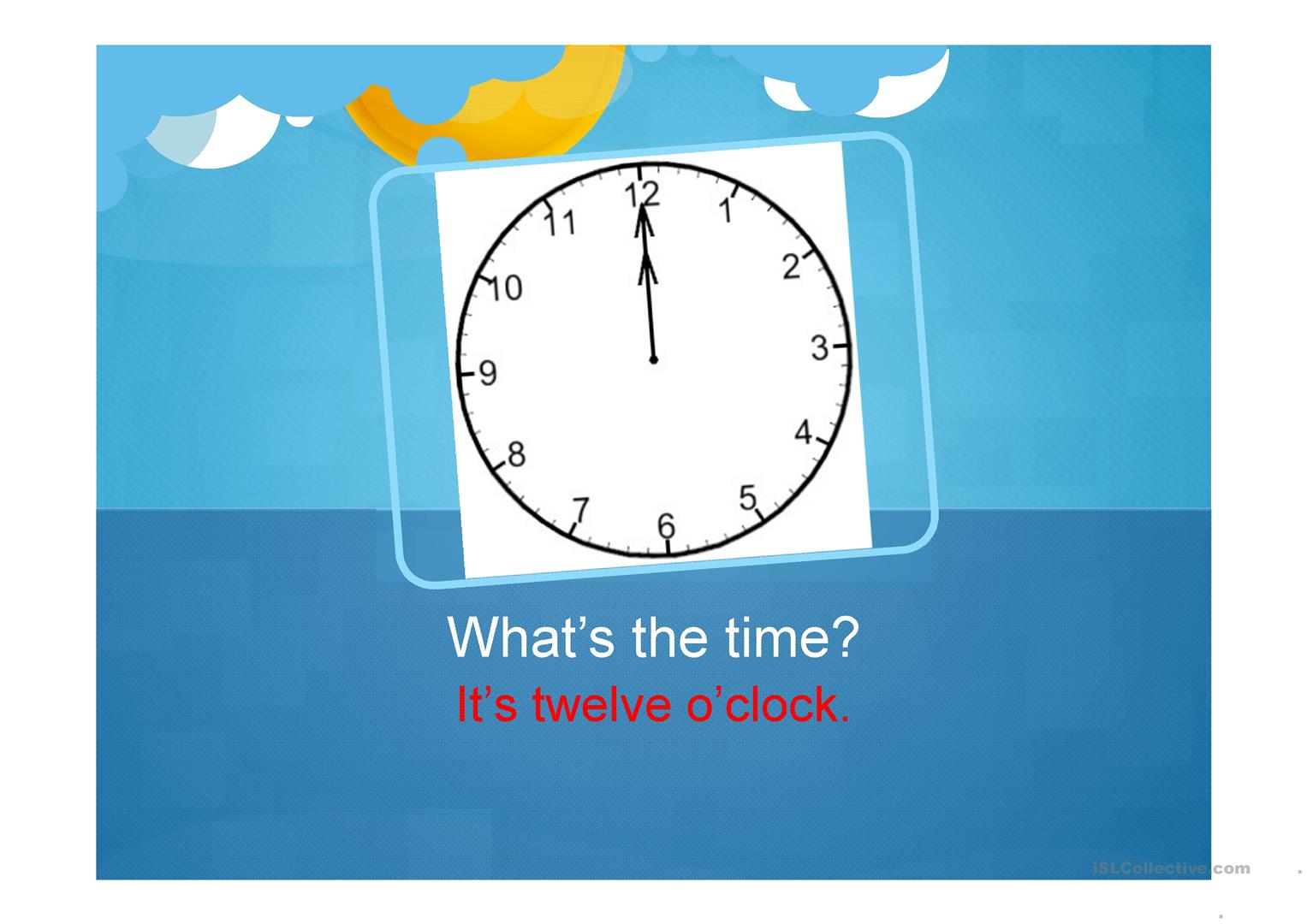 What S The Time Worksheet