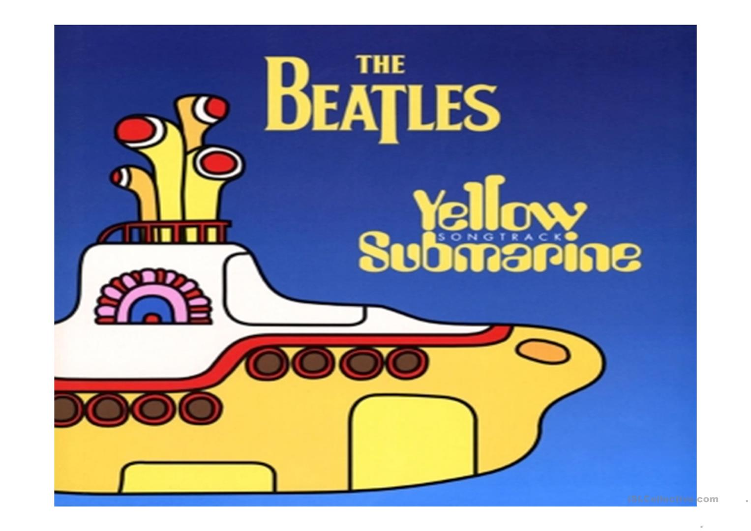 Yellow Submarine By The Beatles Worksheet