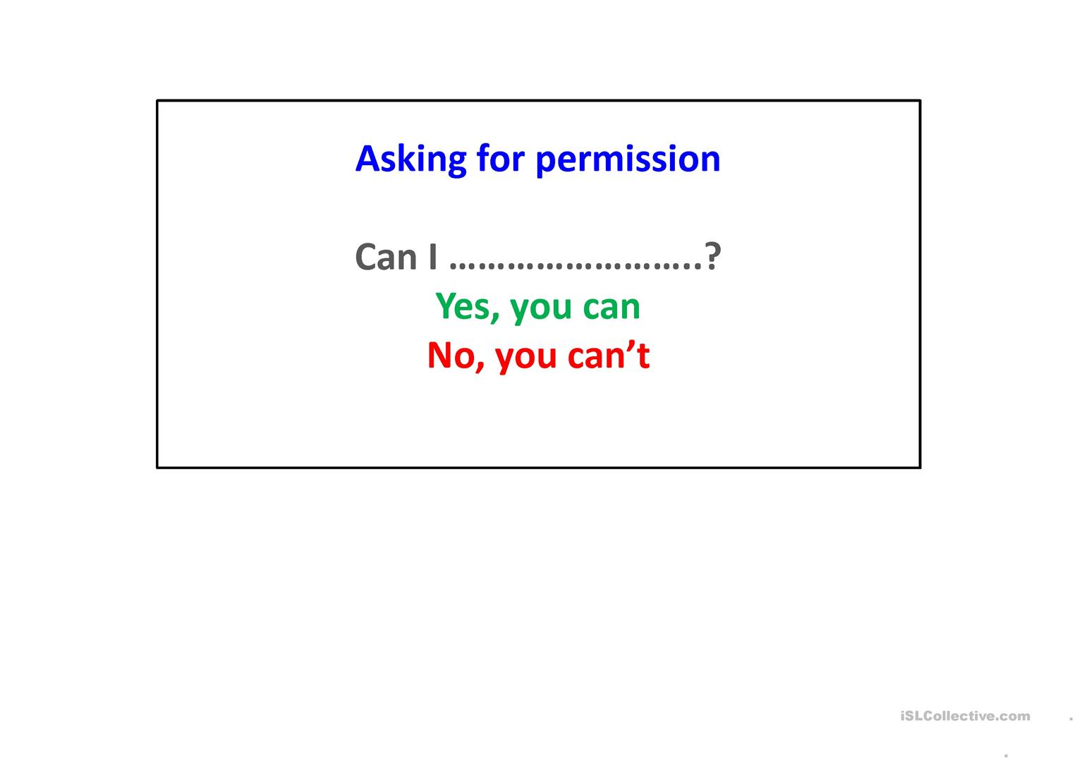 Asking For Permission