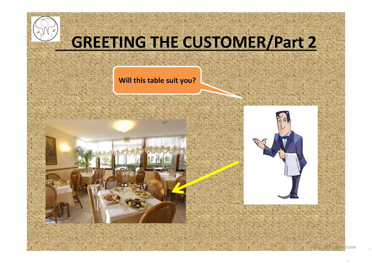 Greeting The Customer Worksheet