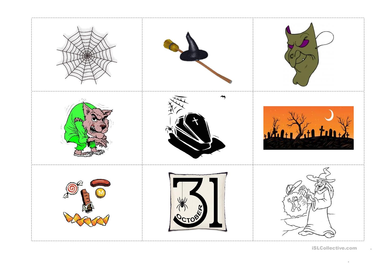 Halloween Flashcards Worksheet