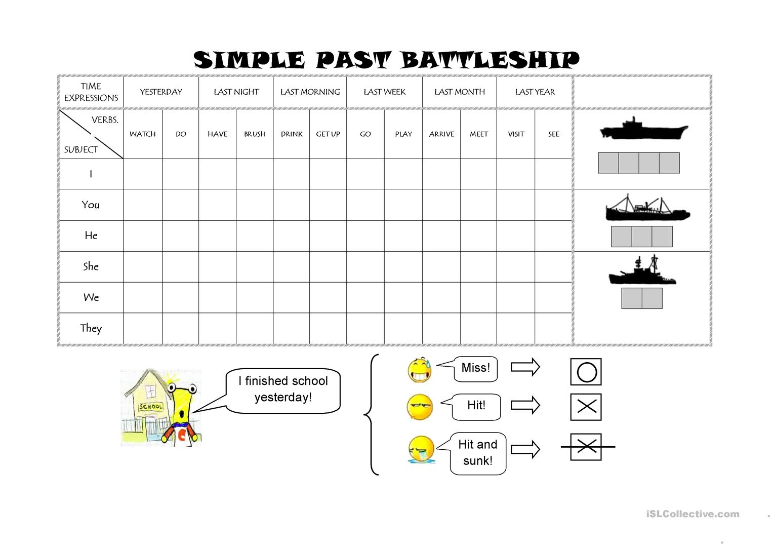 Simple Past Battleship