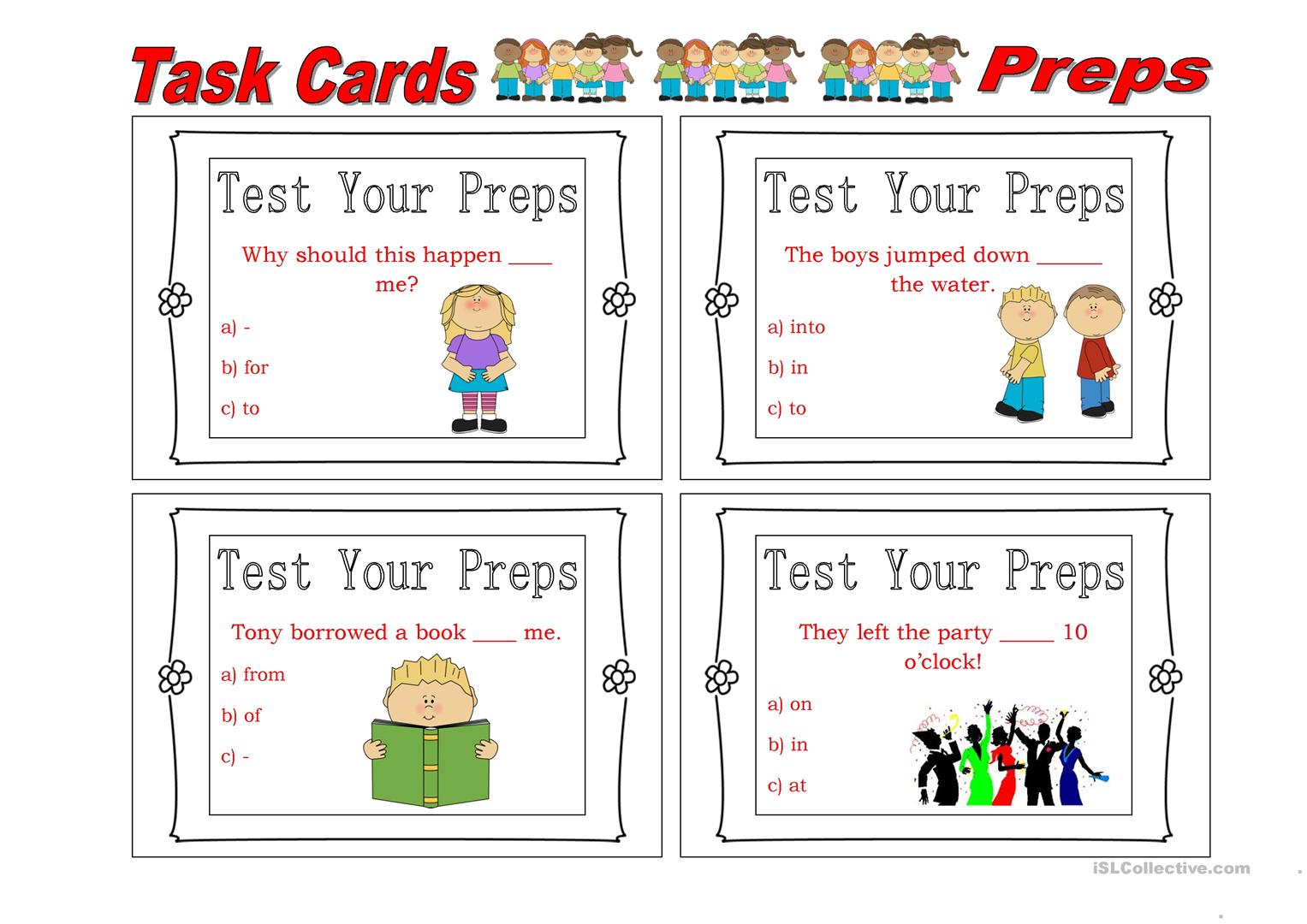 Preposition Mountain Worksheet