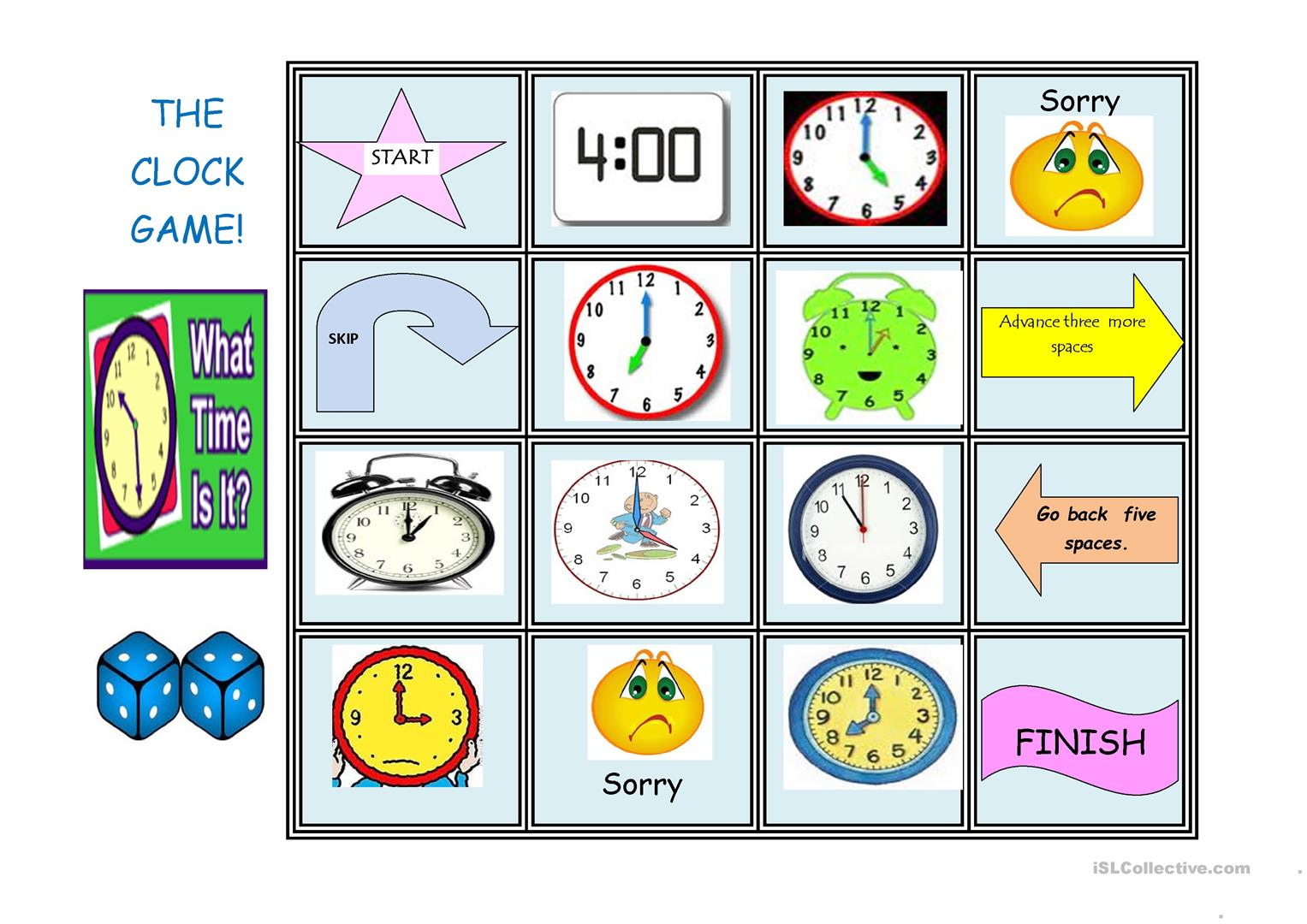 The Clock Game Worksheet