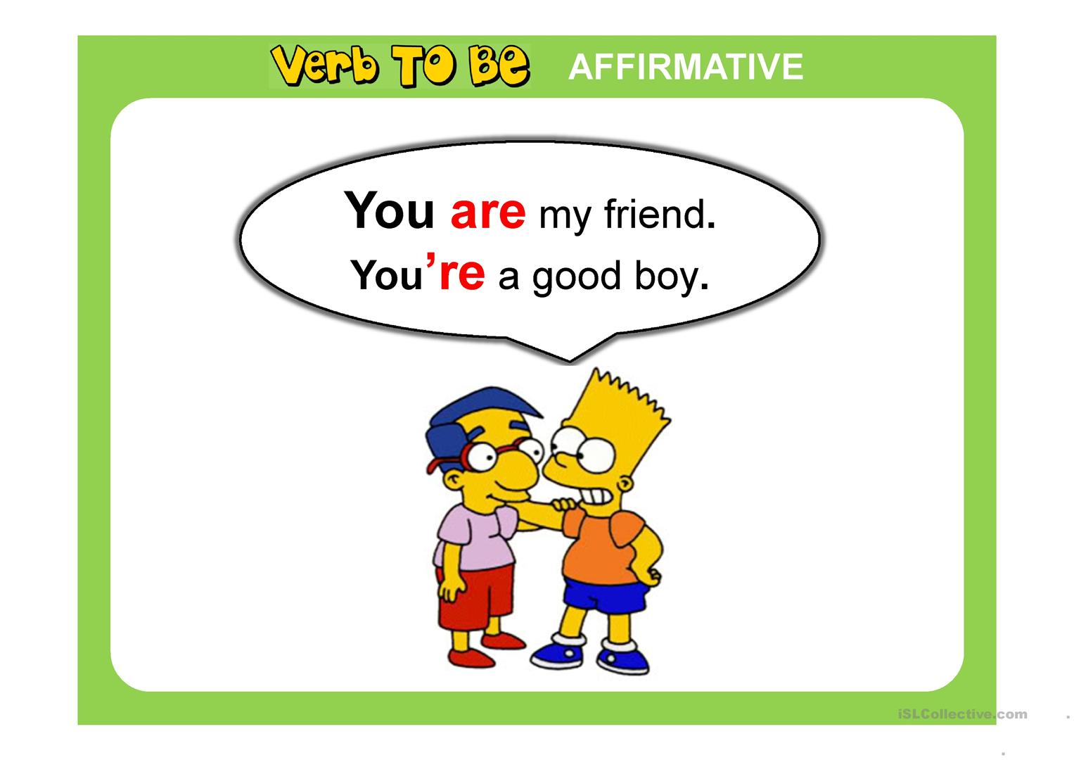 Verb To Be Ppt Worksheet