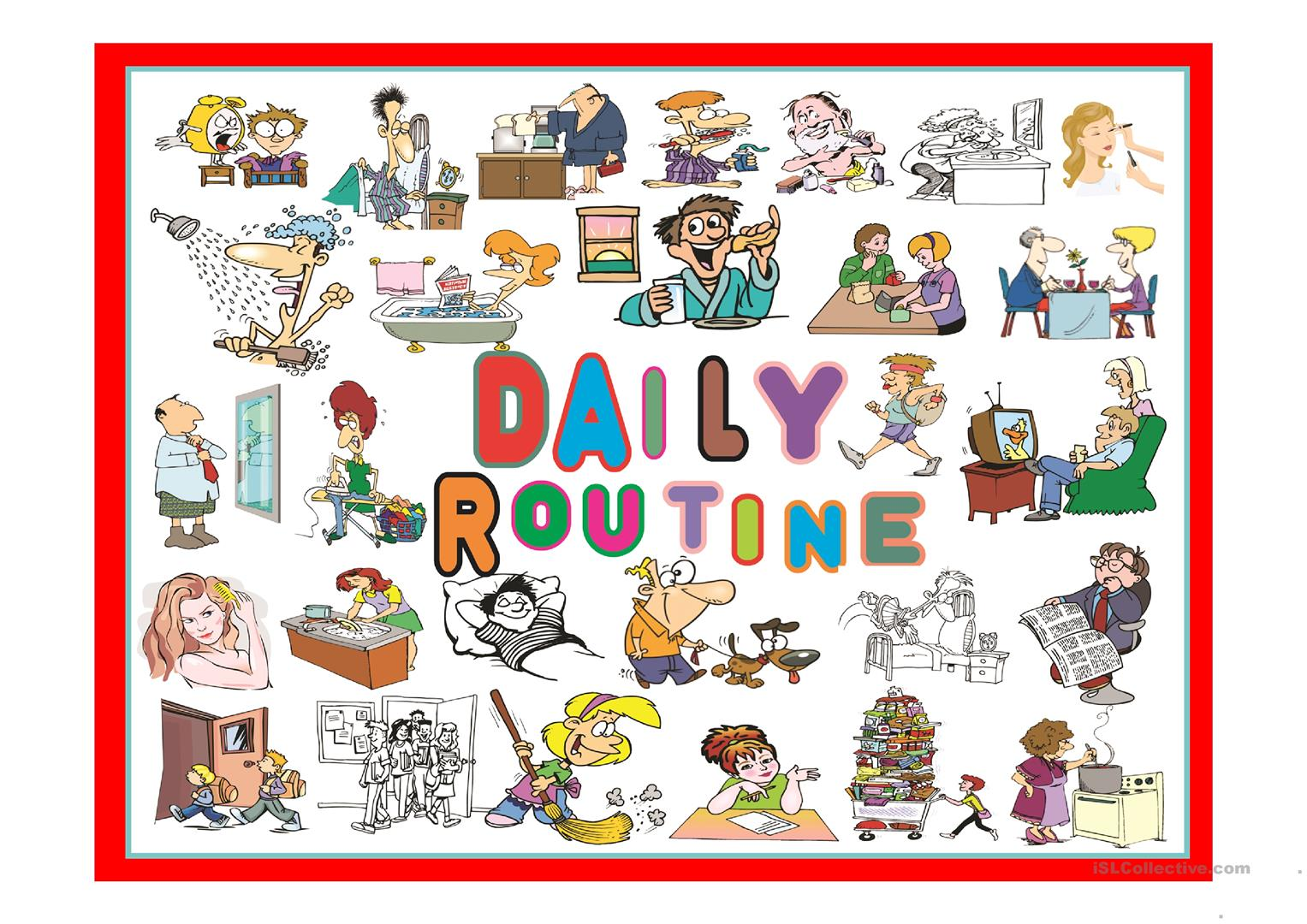 Daily Routine Part 1 Worksheet
