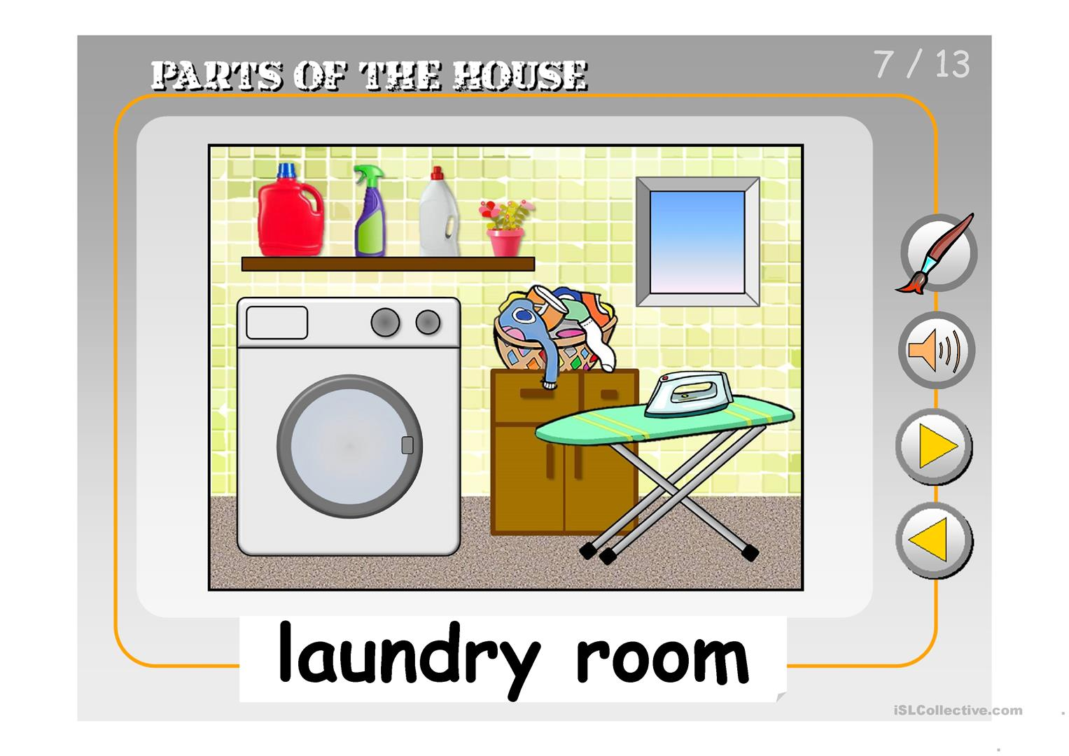 Parts Of The House Ppt Worksheet