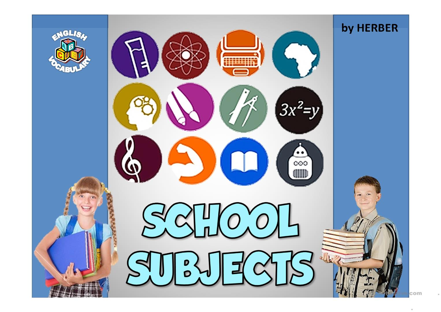 School Subjects Ppt Worksheet