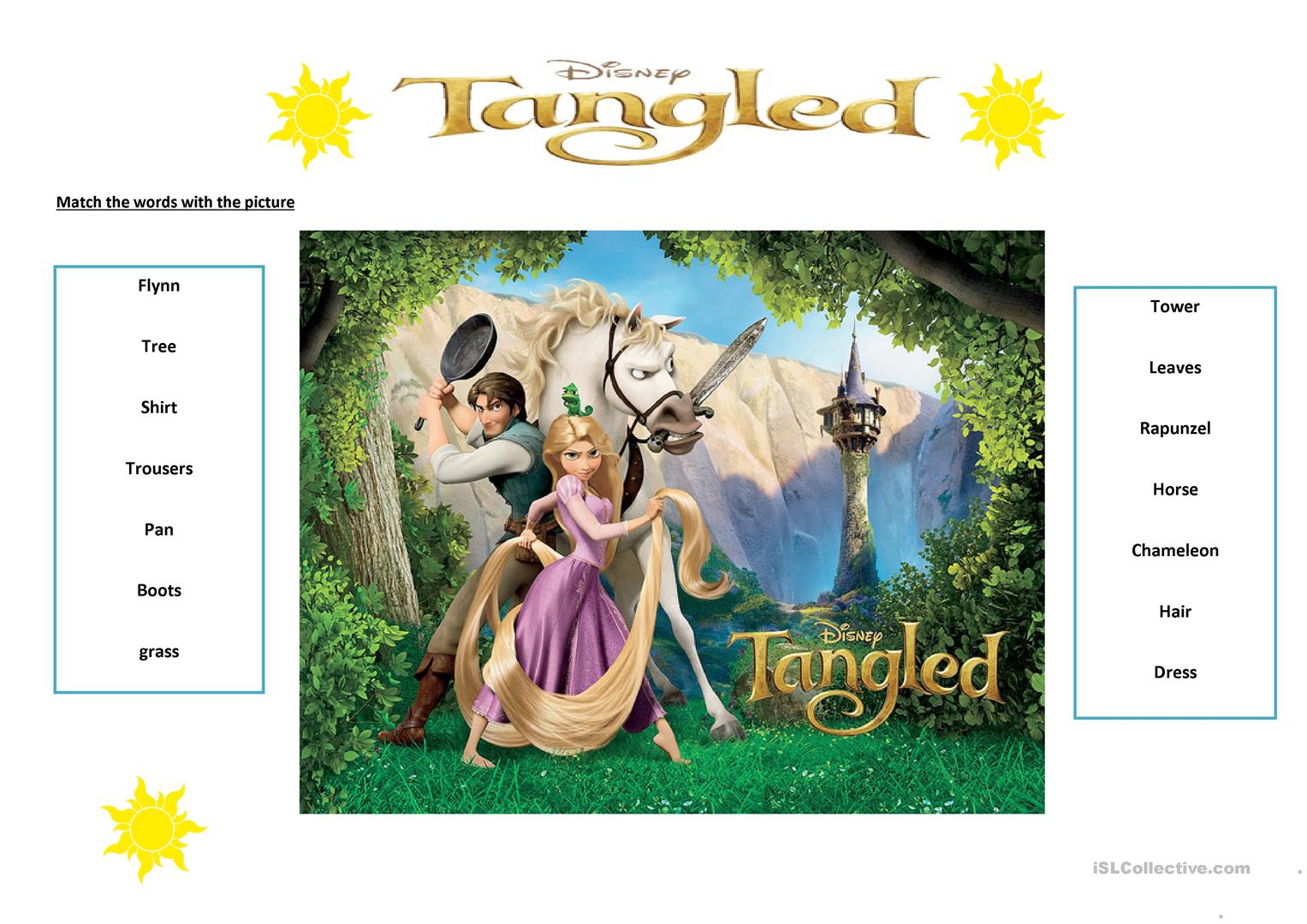 Tangled Film Activity