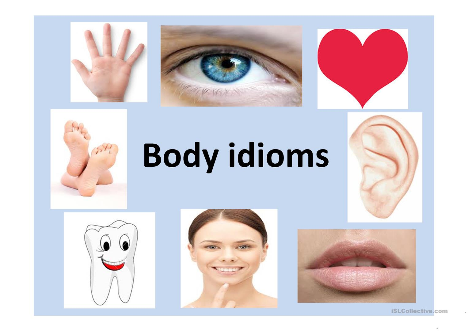 Body Part Idioms Worksheet