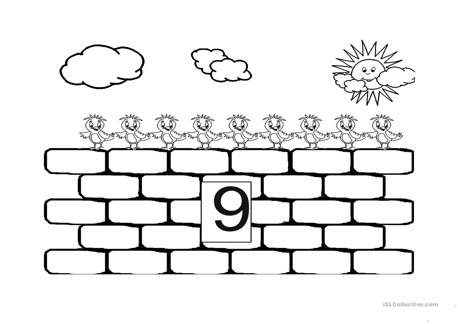 Counting Board For 3 Year Olds Worksheet