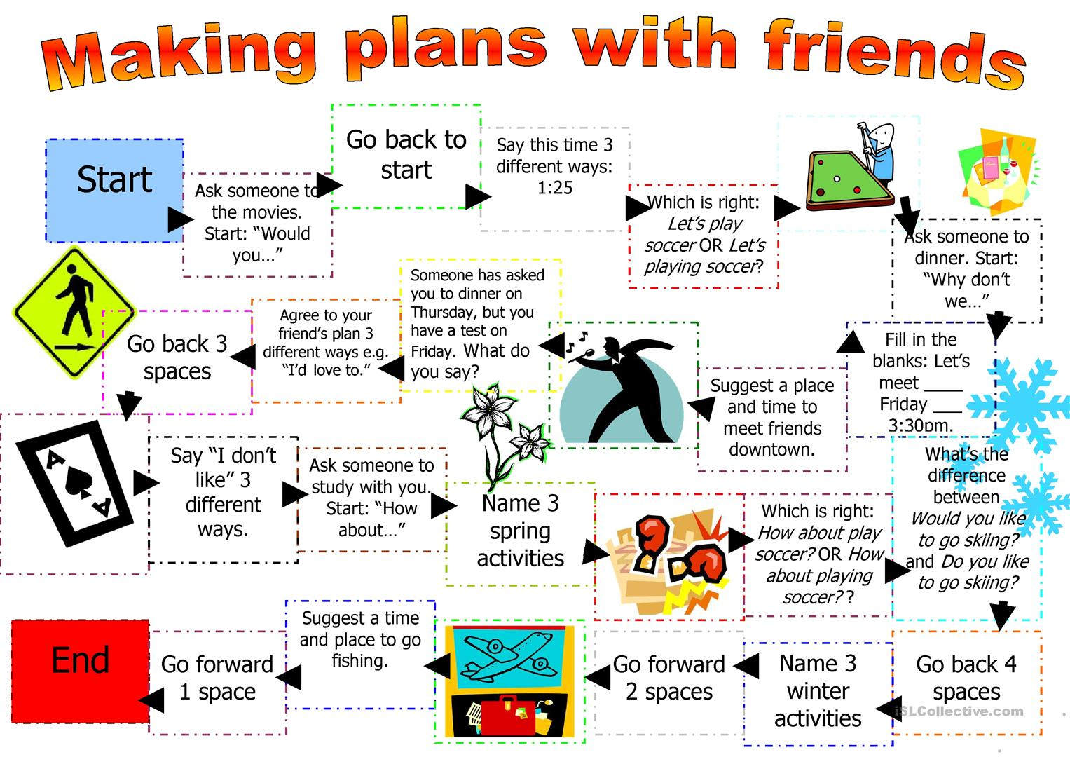 Expressions Used When Making Plans Worksheet