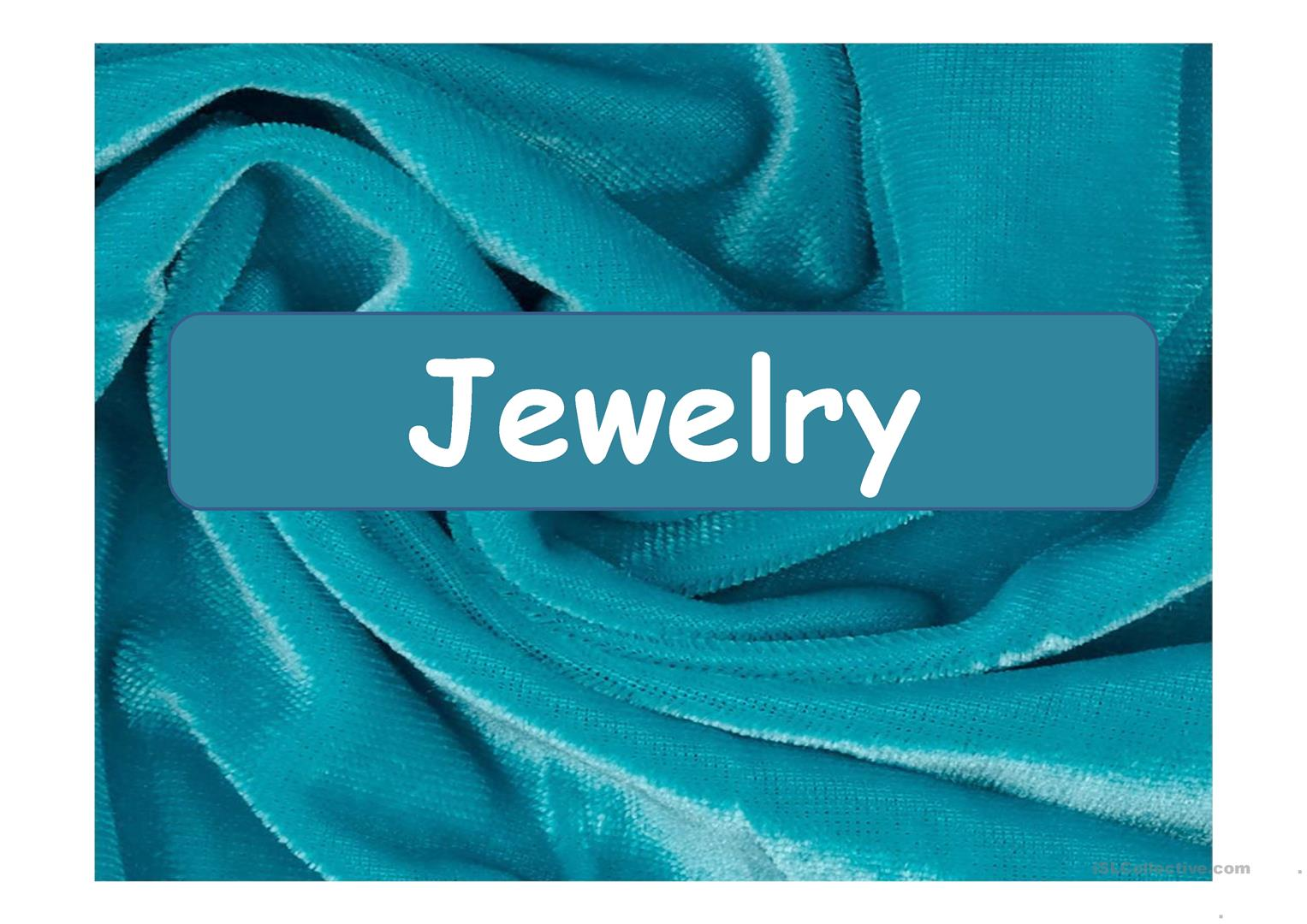 Jewelry Ppt Worksheet