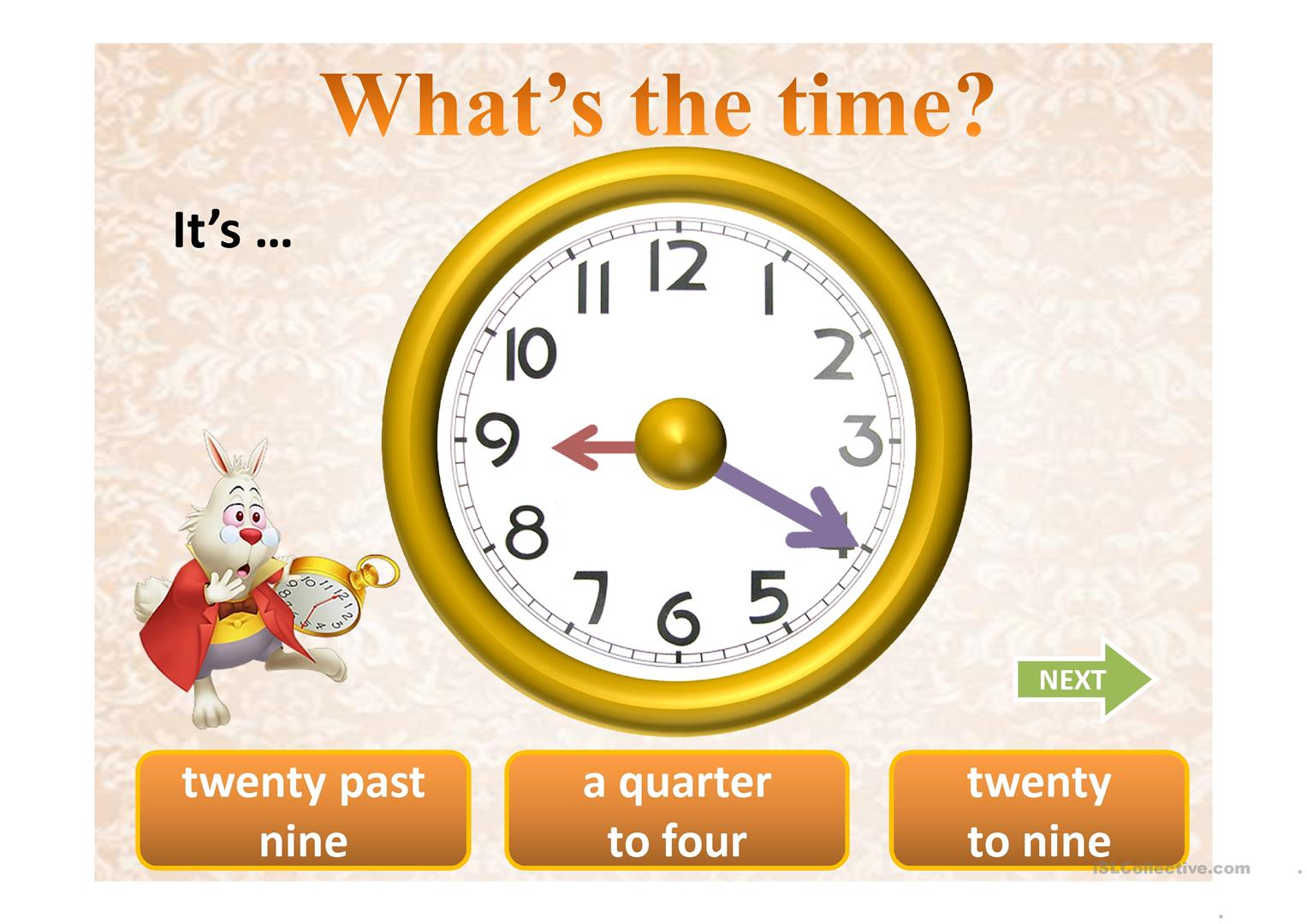 What S The Time Ppt Worksheet