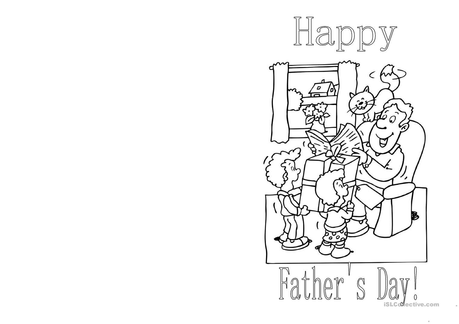 Father S Day Card Worksheet