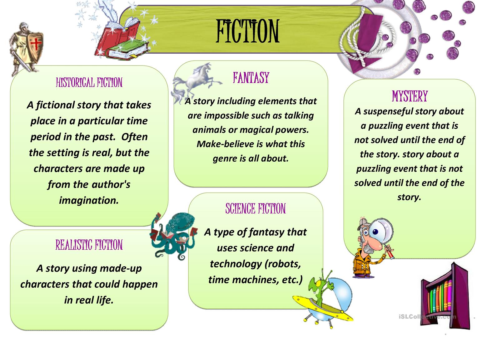 Reading Genres Fiction 1 Worksheet