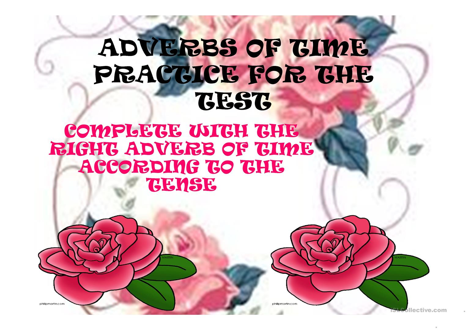 Adverbs Of Time With Different Tenses Worksheet