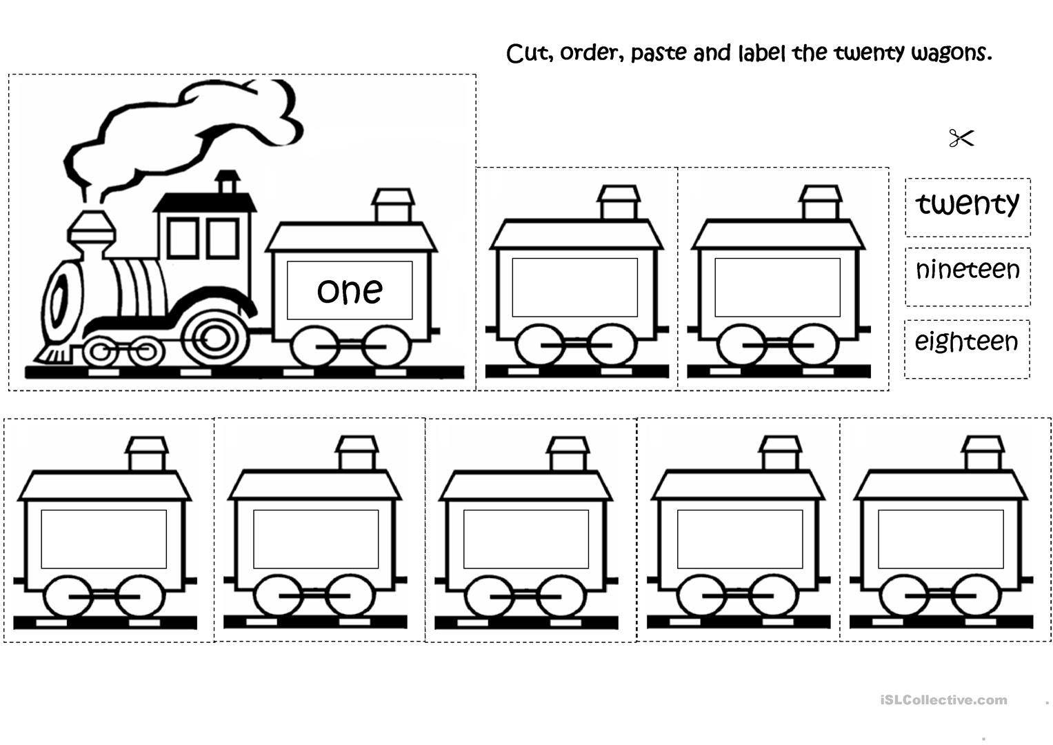 The Number Train Worksheet