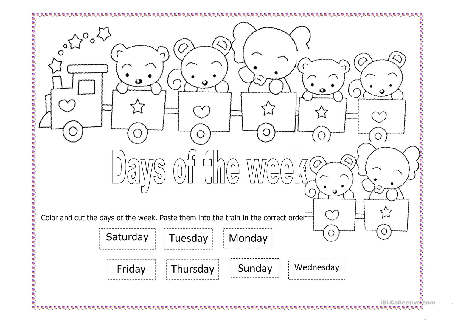 Worksheet Days Of The Week Worksheet Worksheet Fun