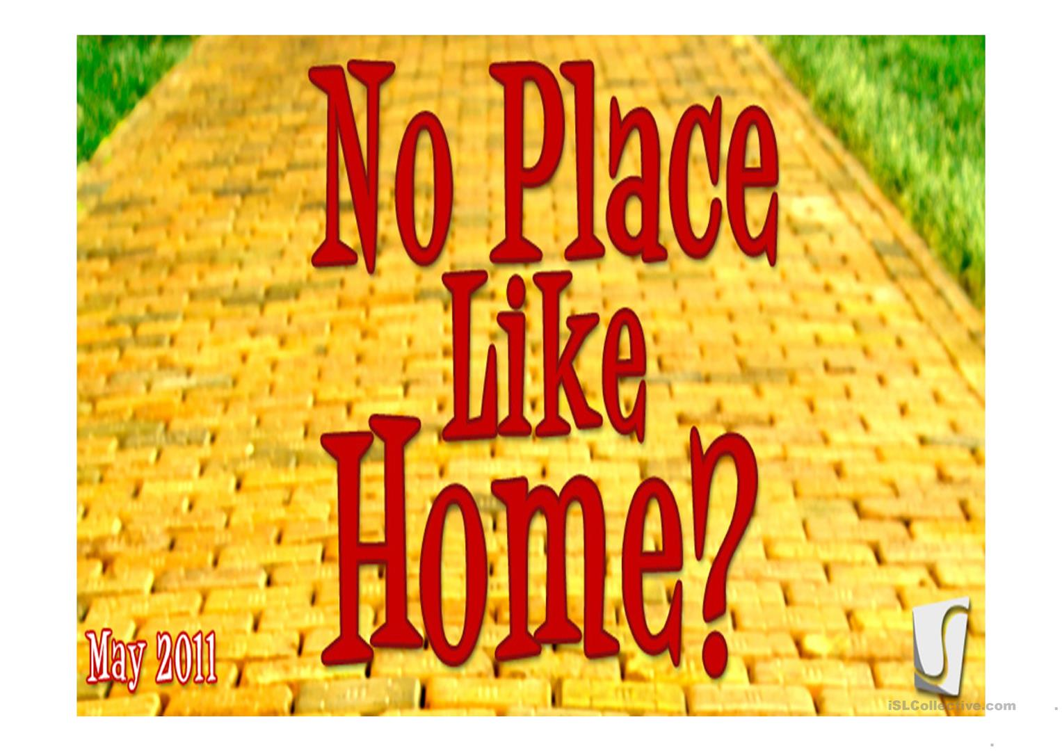 Home And Homesickness Worksheet