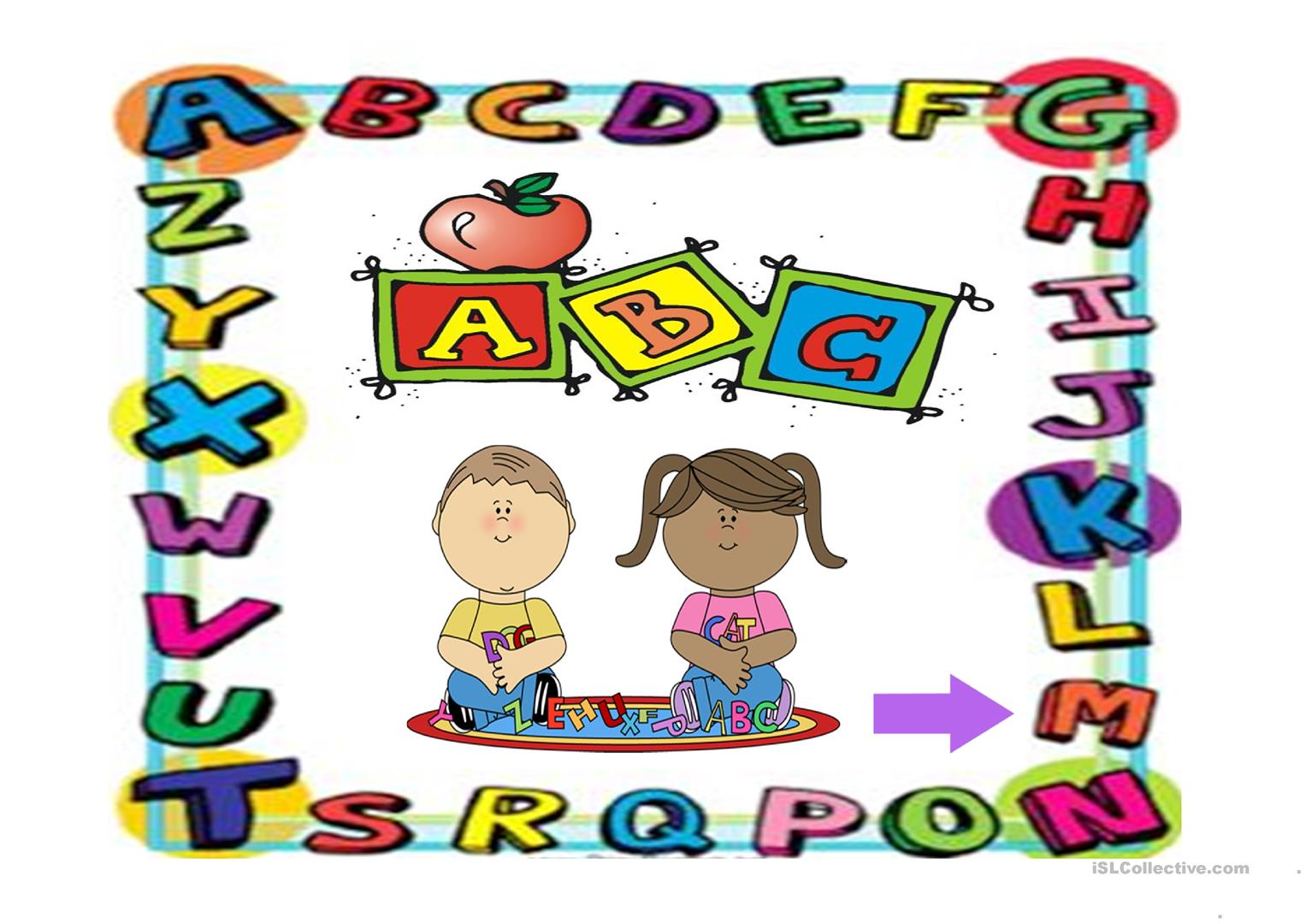 My Alphabet Worksheet
