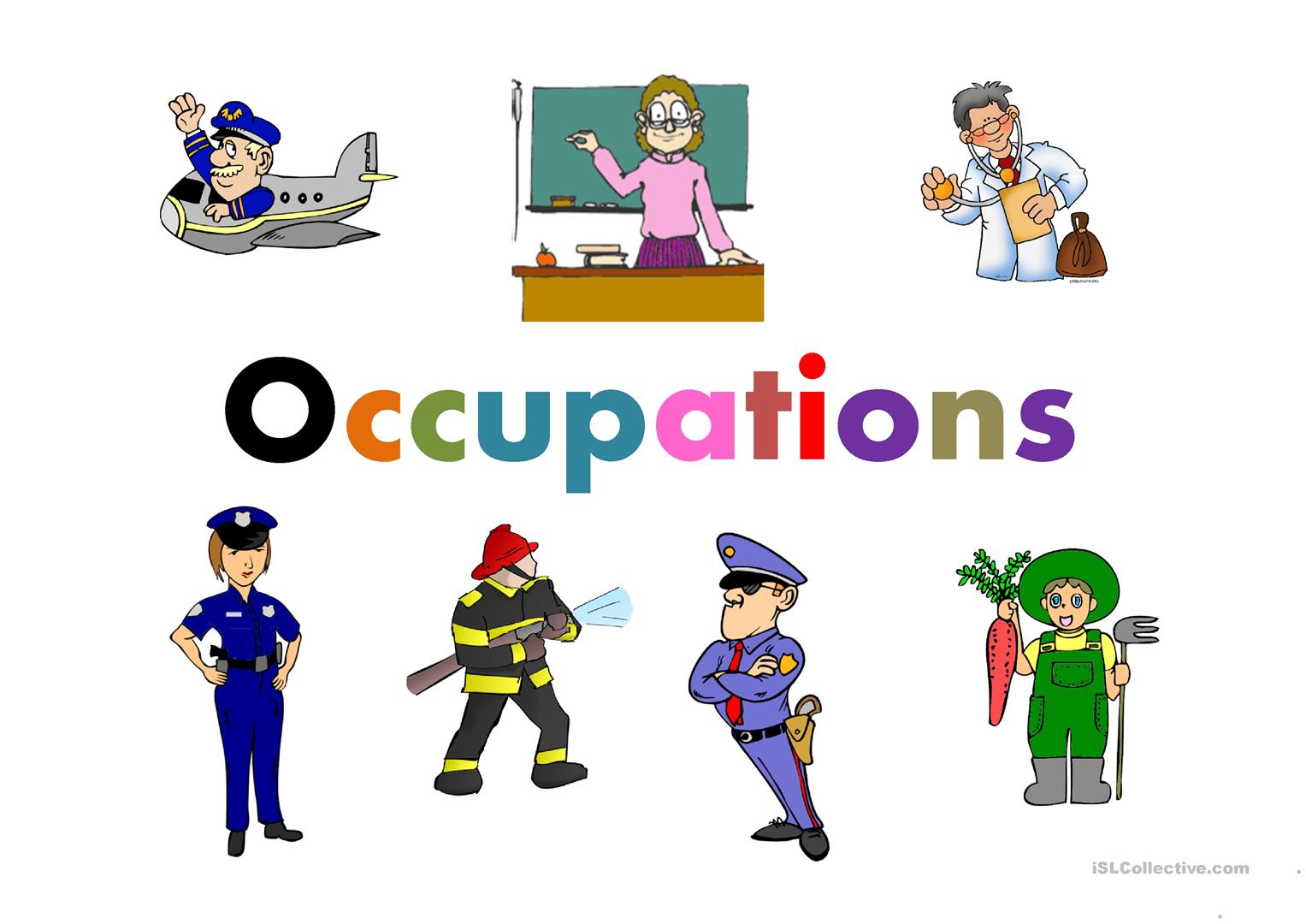 Worksheet Occupation