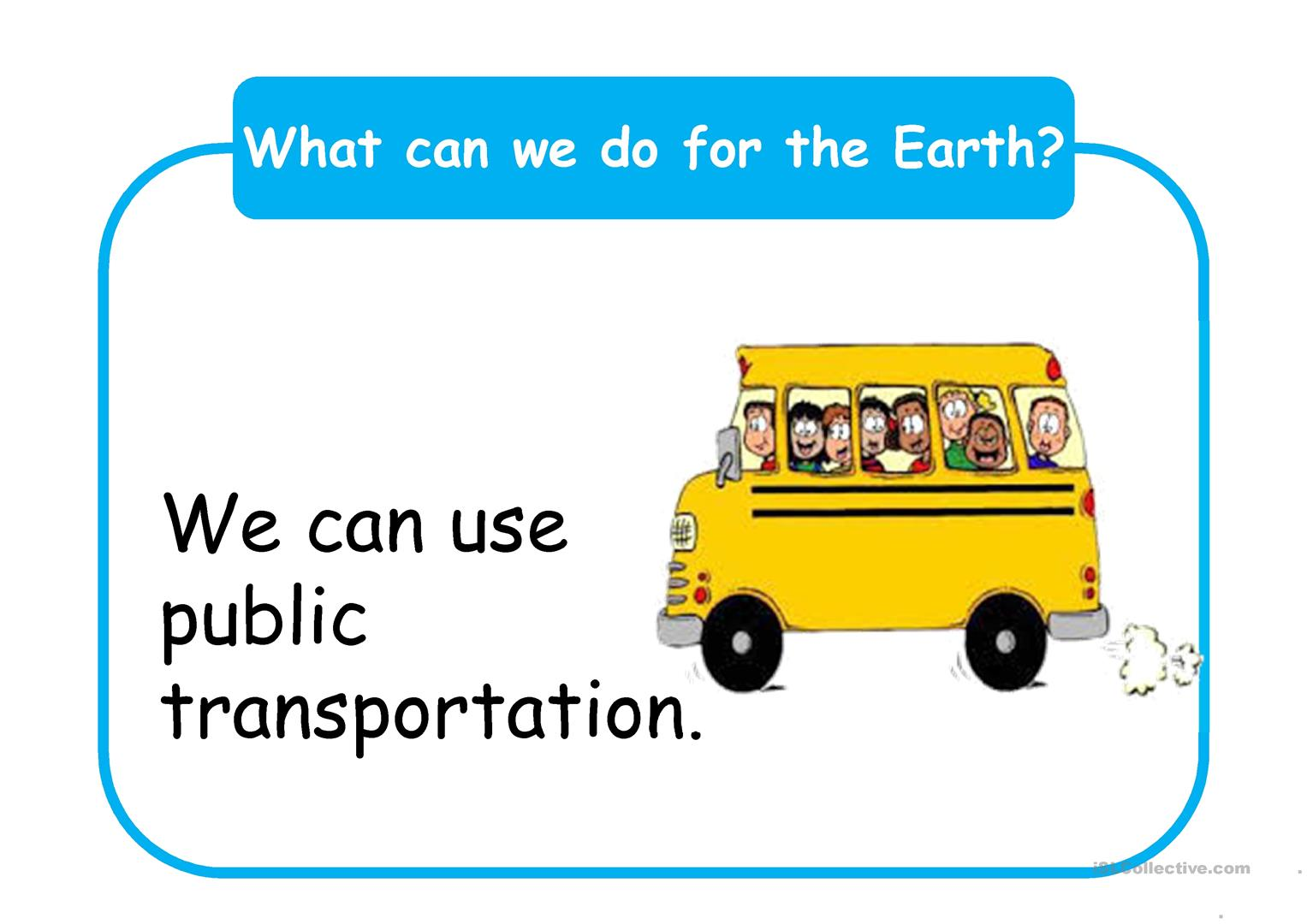 What Can We Do For The Earth Worksheet