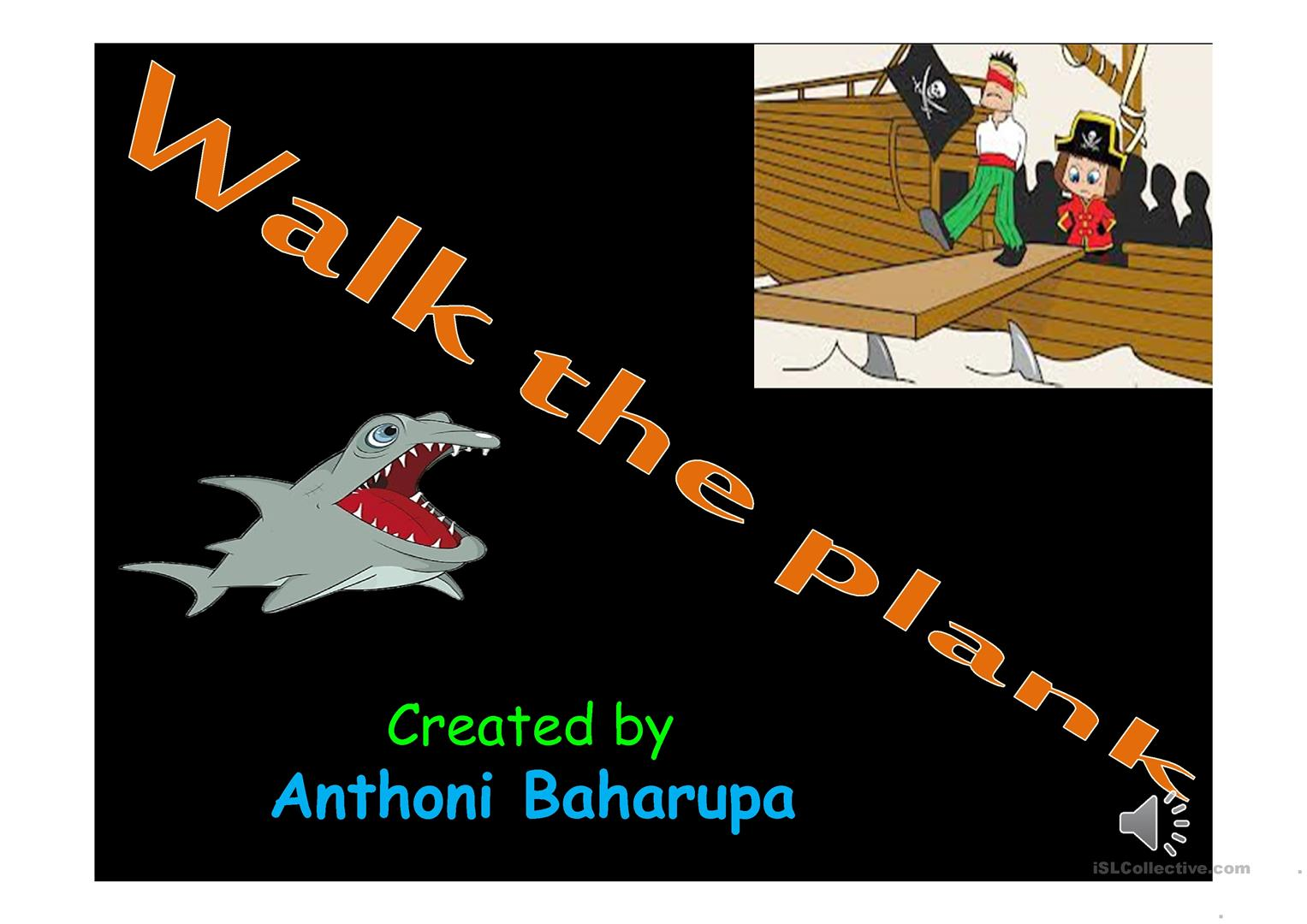 Walk The Plank Worksheet