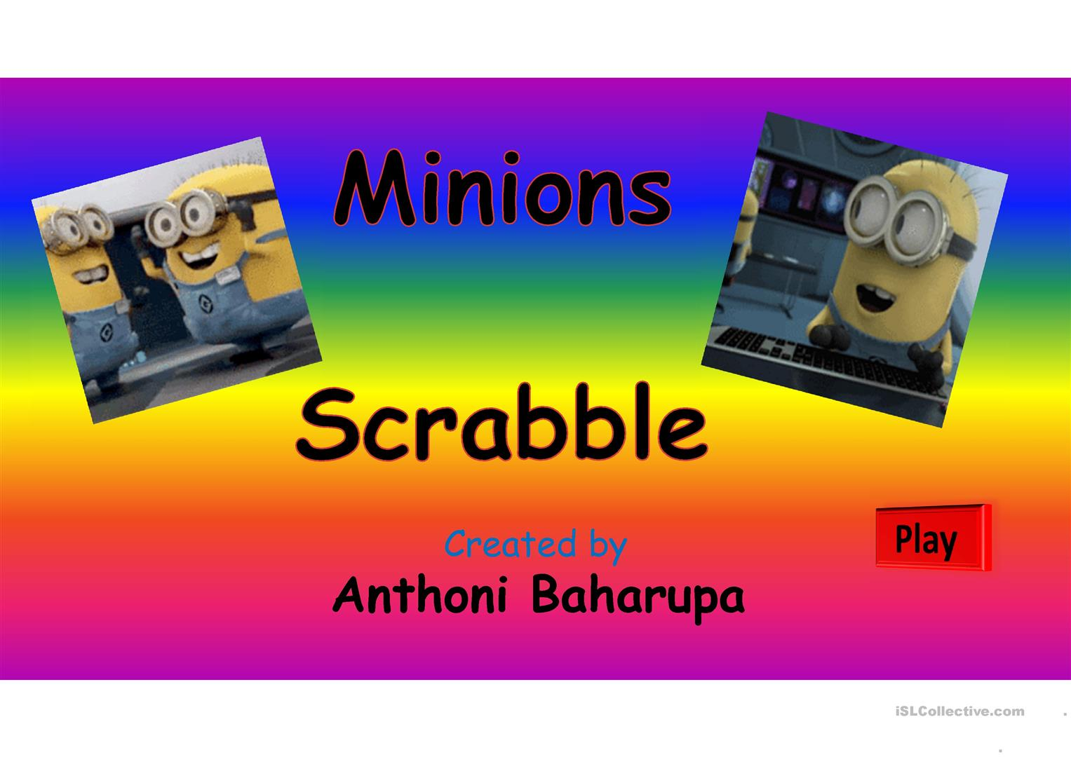Scrabble Minions Worksheet