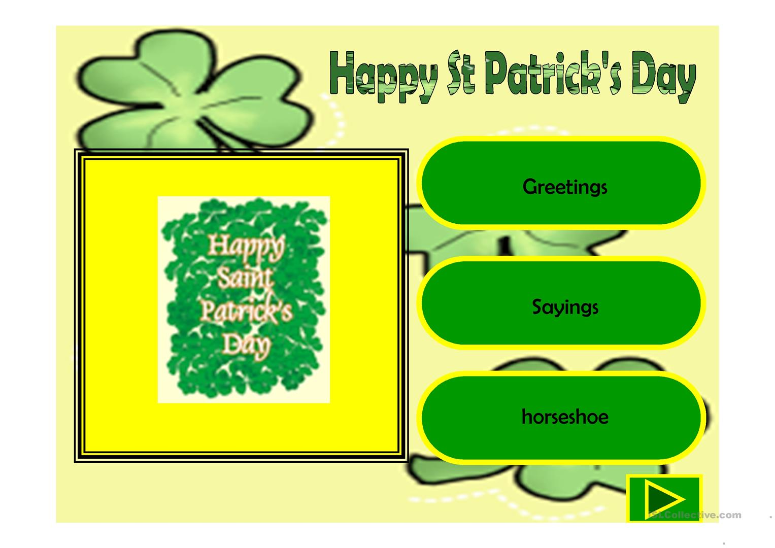 Happy St Patrick S Day Worksheet