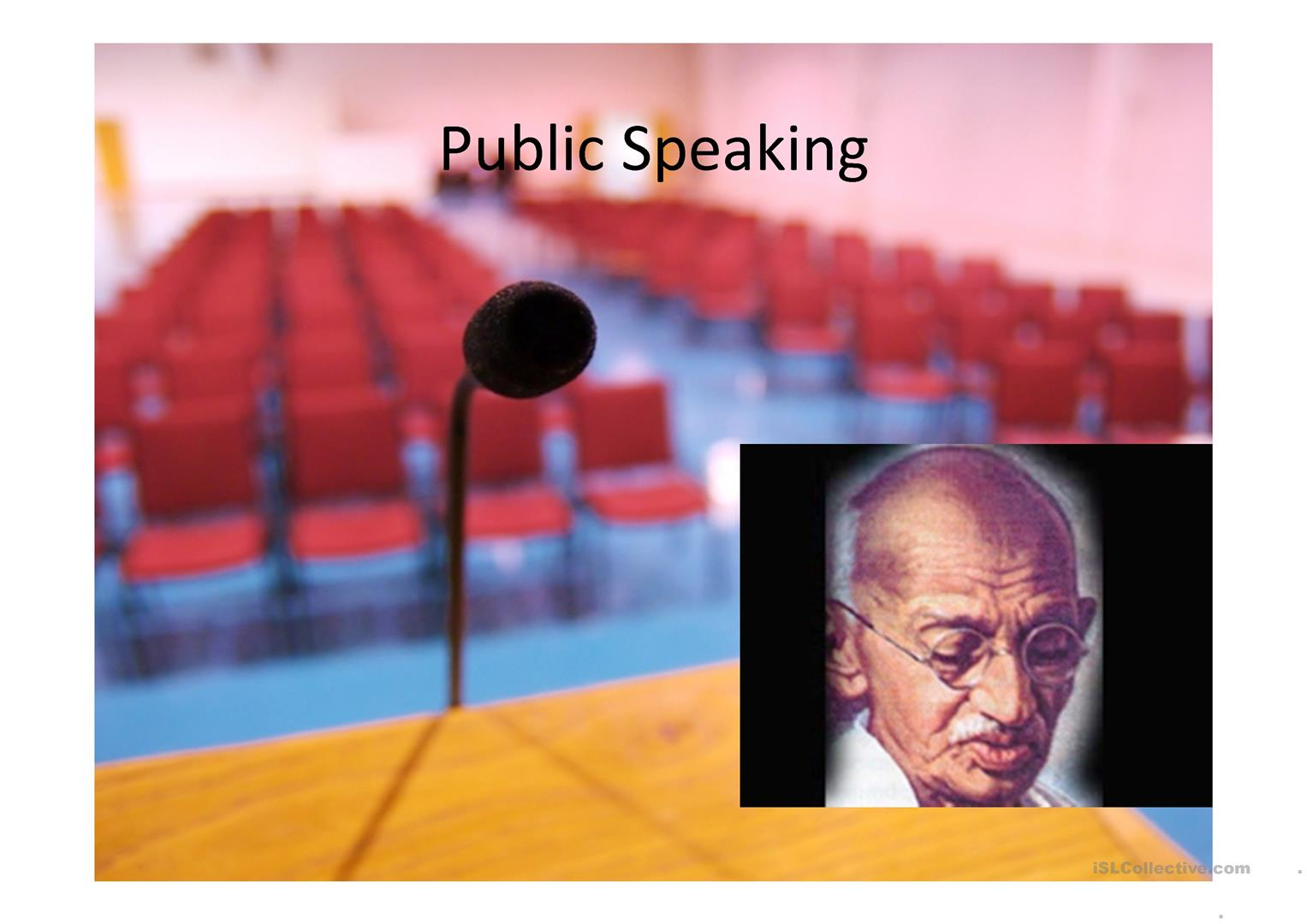 Public Speaking Practice Worksheet