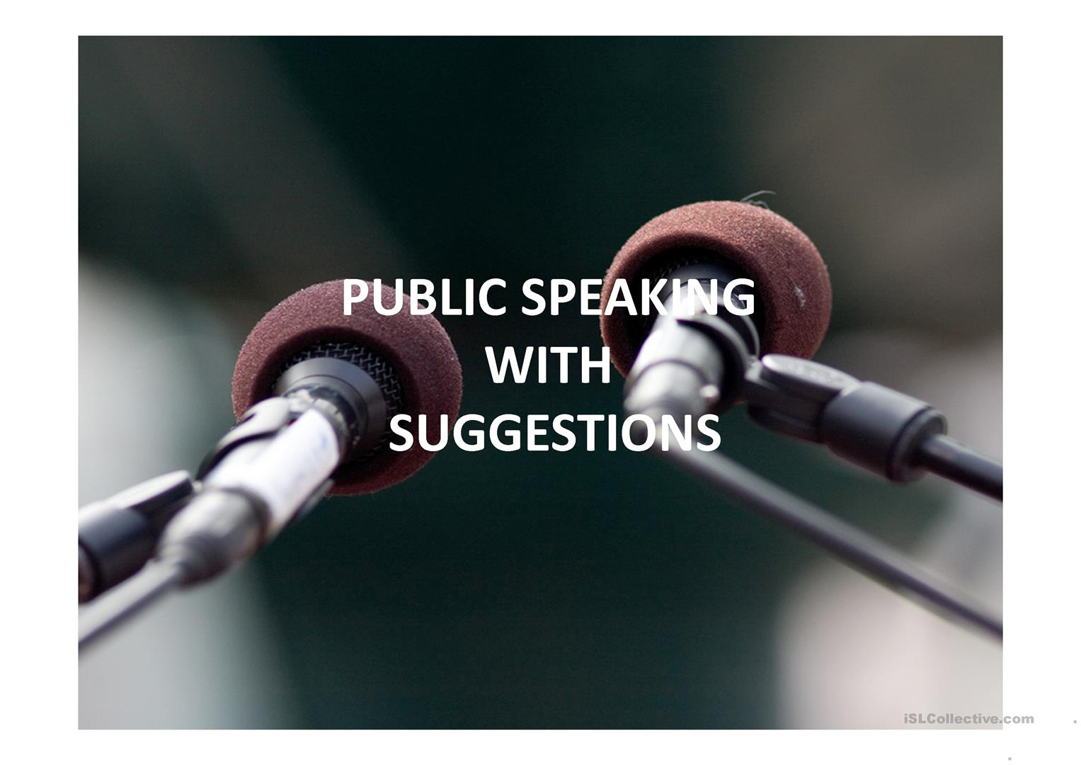 Public Speaking Practice With Prompts Worksheet